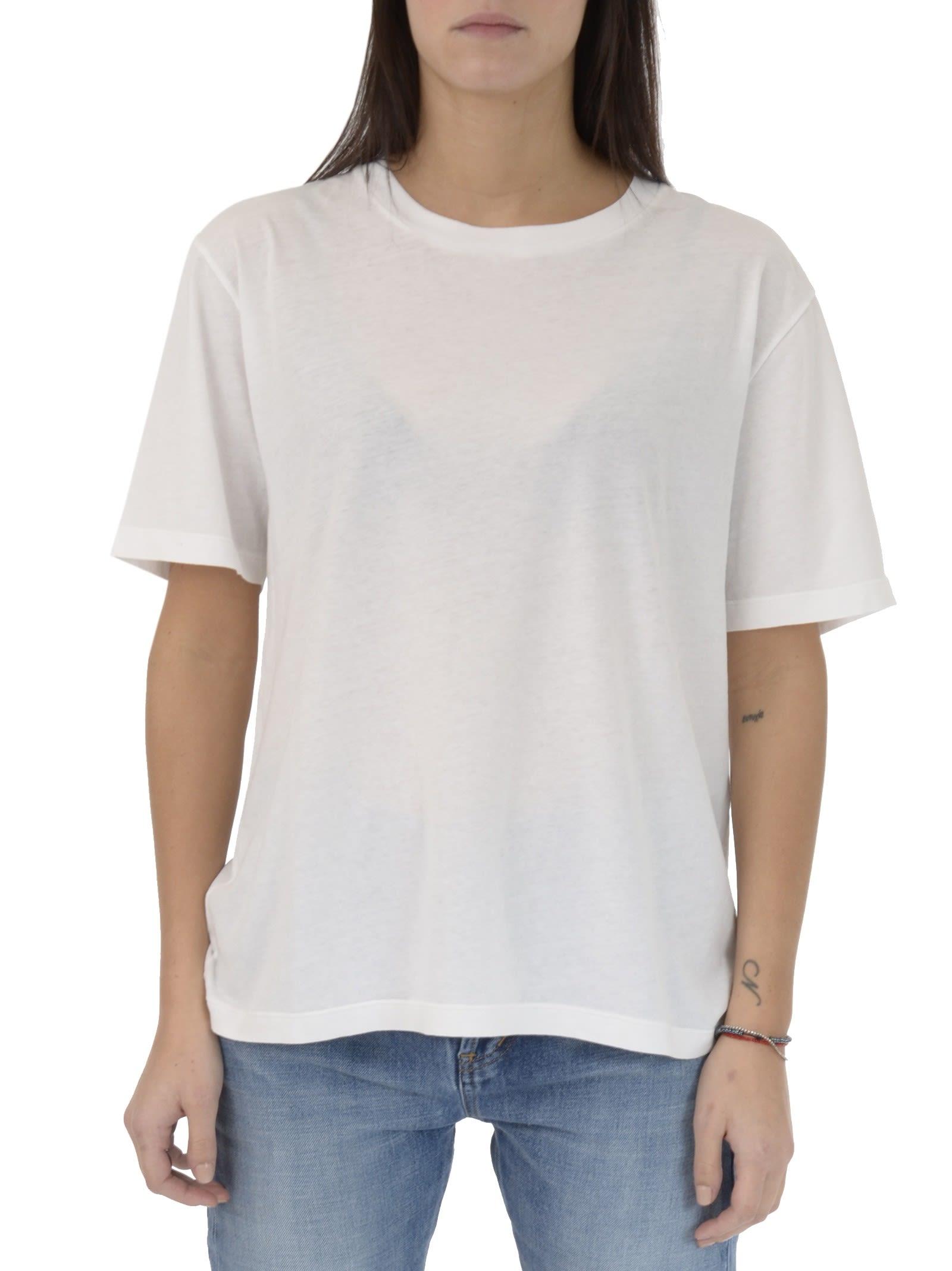 Saint Laurent Natural Cat Print T-shirt