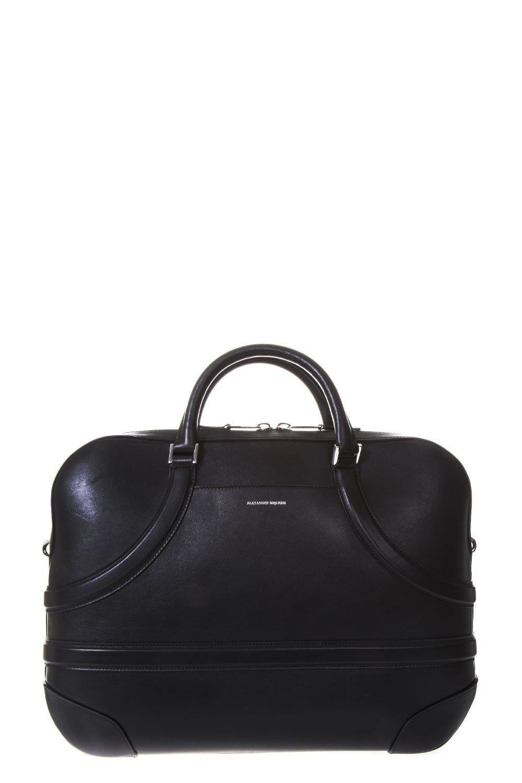 Alexander McQueen Calf Leather Birefcase