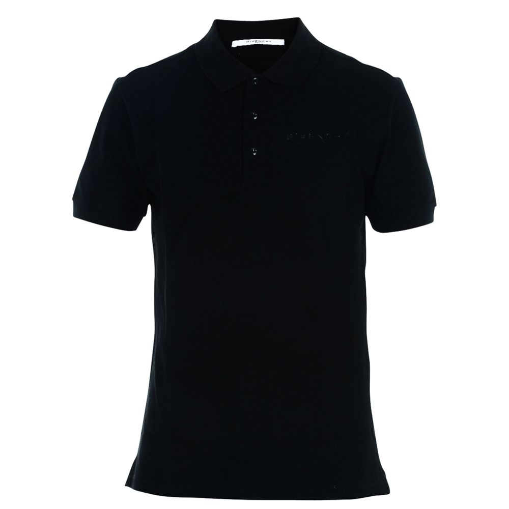 Givenchy black logo polo shirt black men 39 s polo for Polo shirts with logos