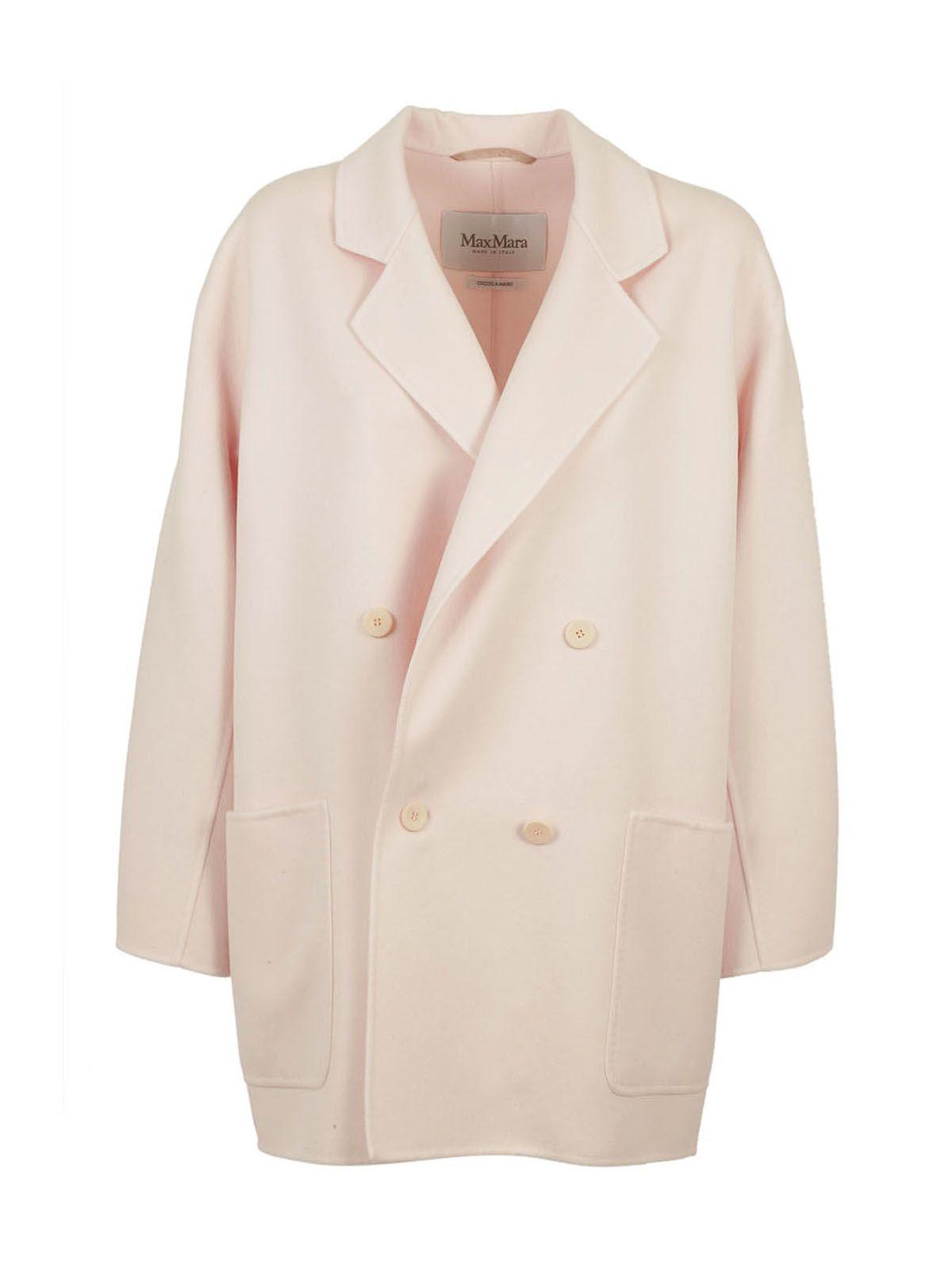 Max Mara - Max Mara Stefy Coat - Pink, Women's Coats | Italist