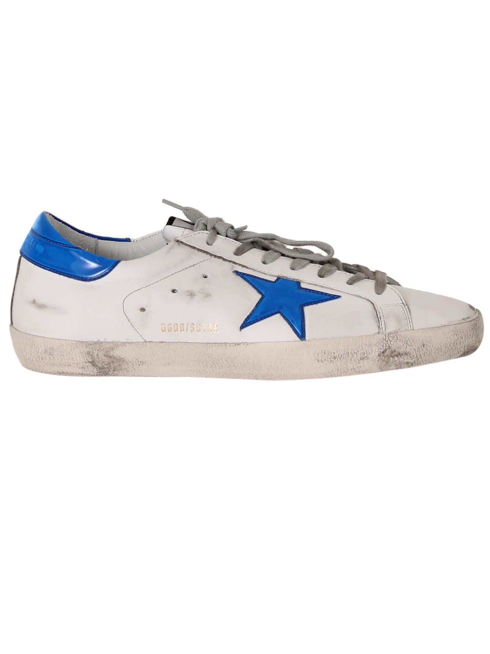 White Bright Blue Superstar Sneakers