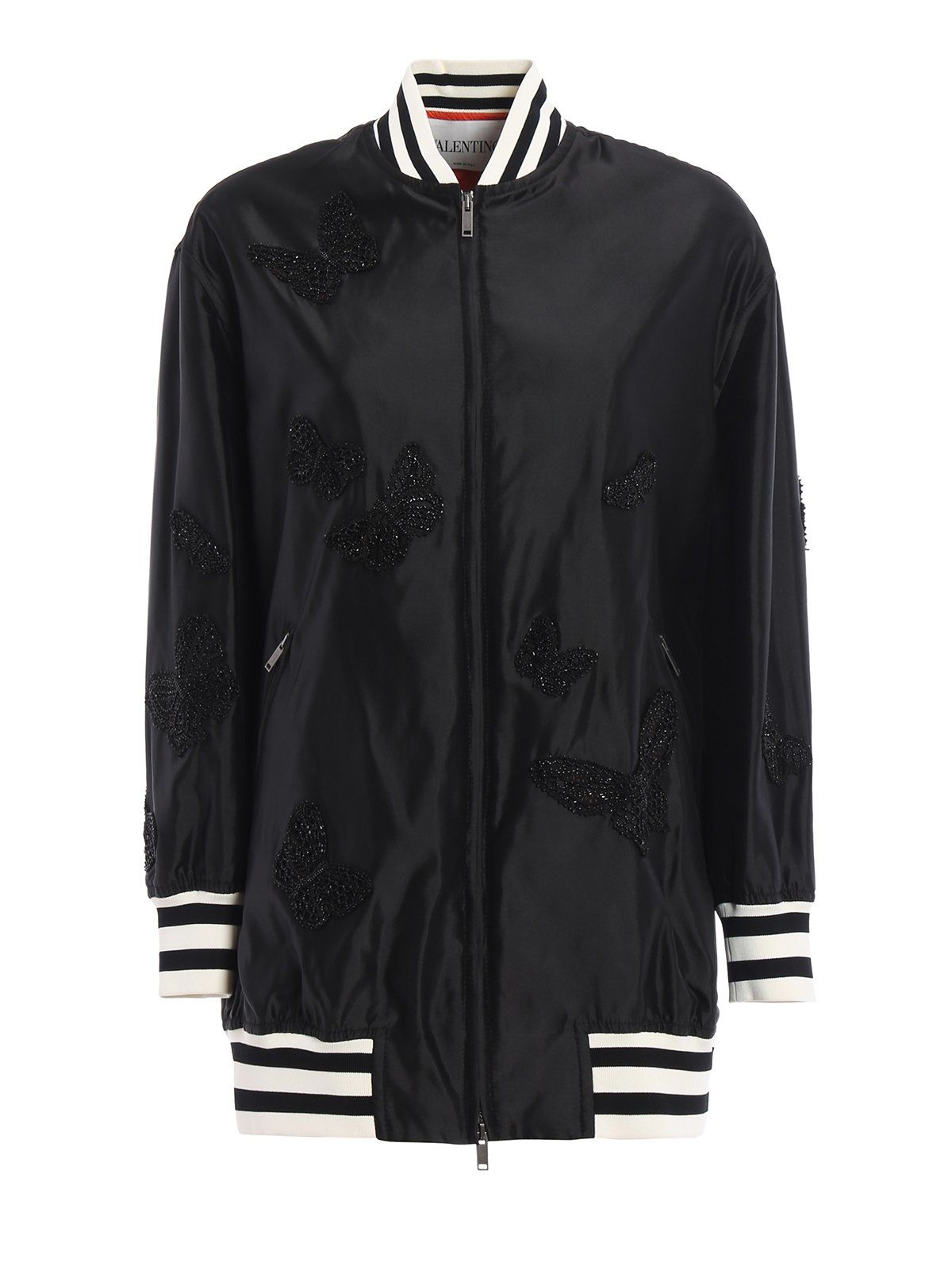 Valentino Butterfly Embroidered Bomber