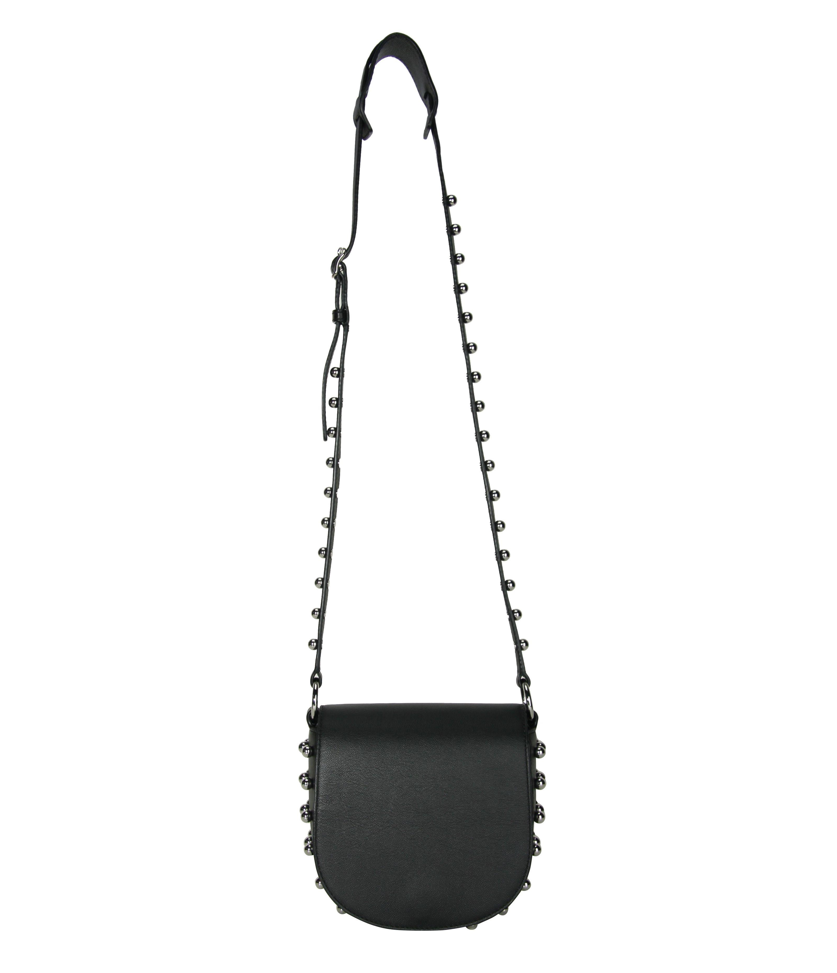 Alexander Wang Black Sphere Studs Cross Body Mini Lia Bag