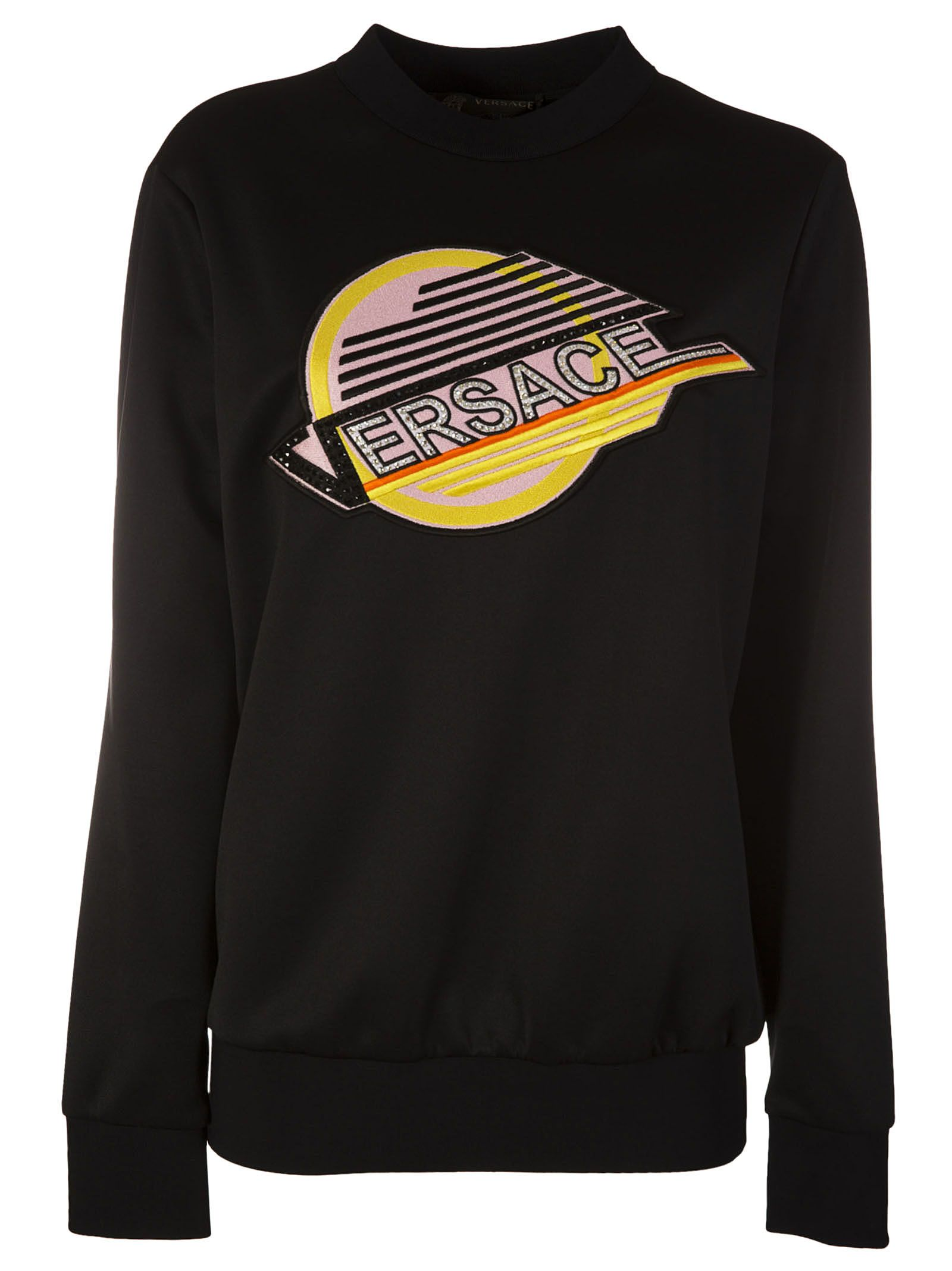 Versace Logo Embroidered Sweatshirt