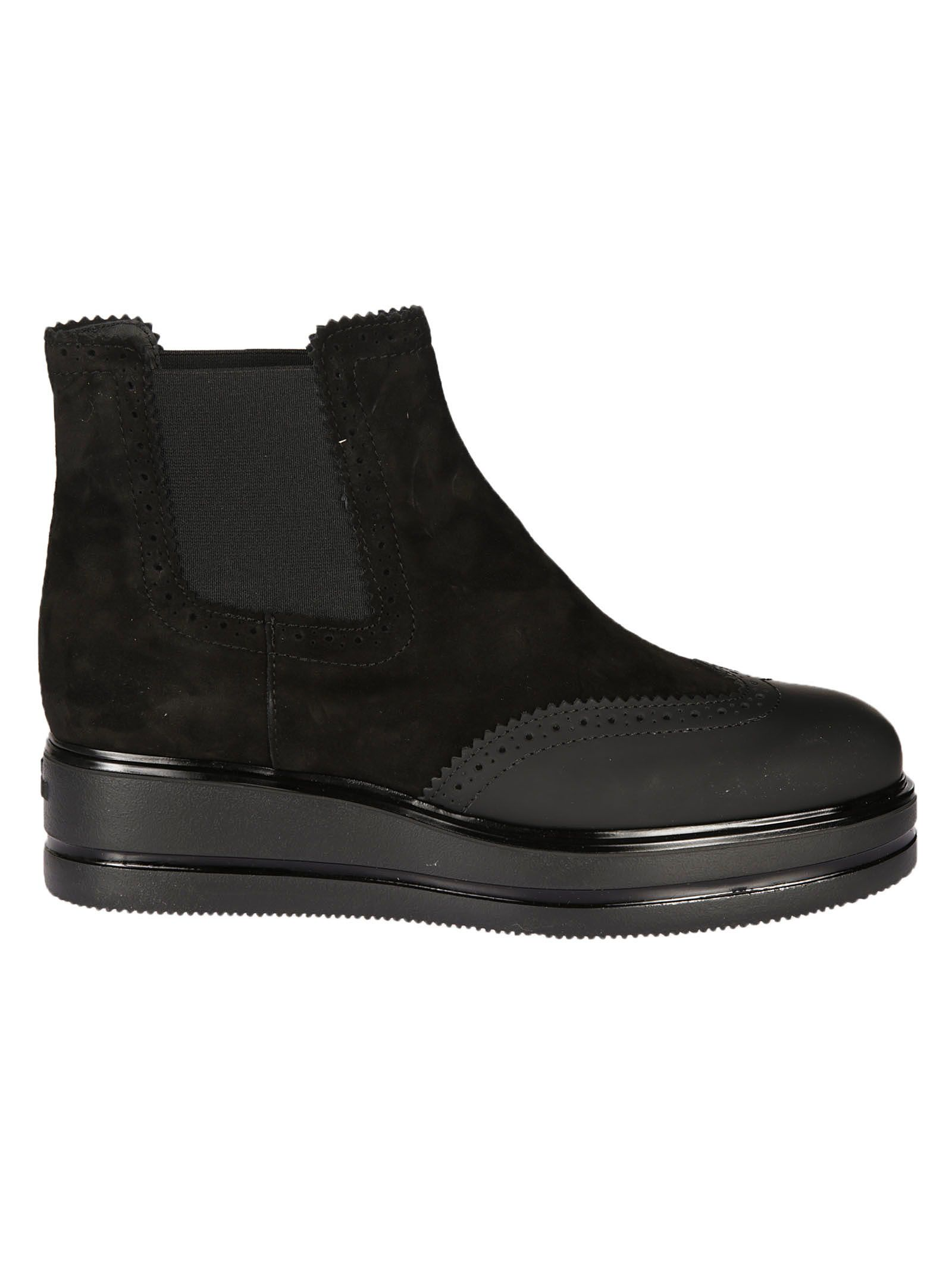 Hogan Brogue Ankle Boots