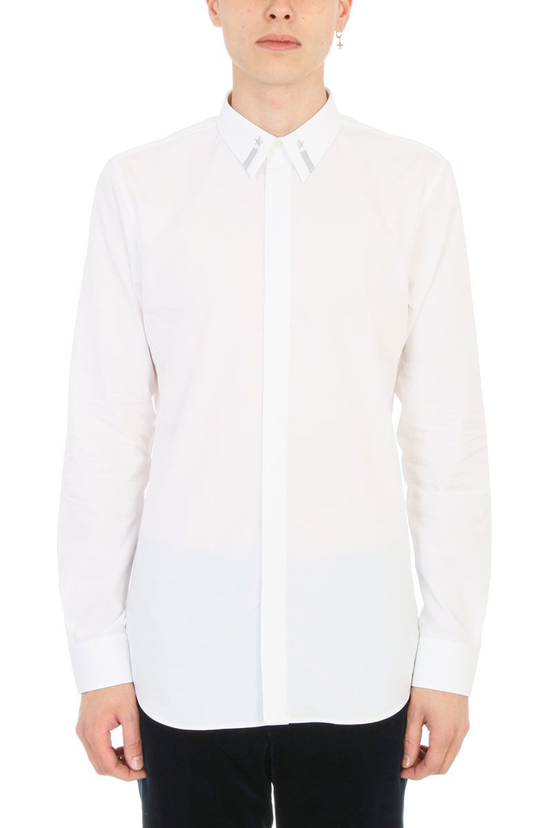 Givenchy Star Embroidered White Cotton Shirt