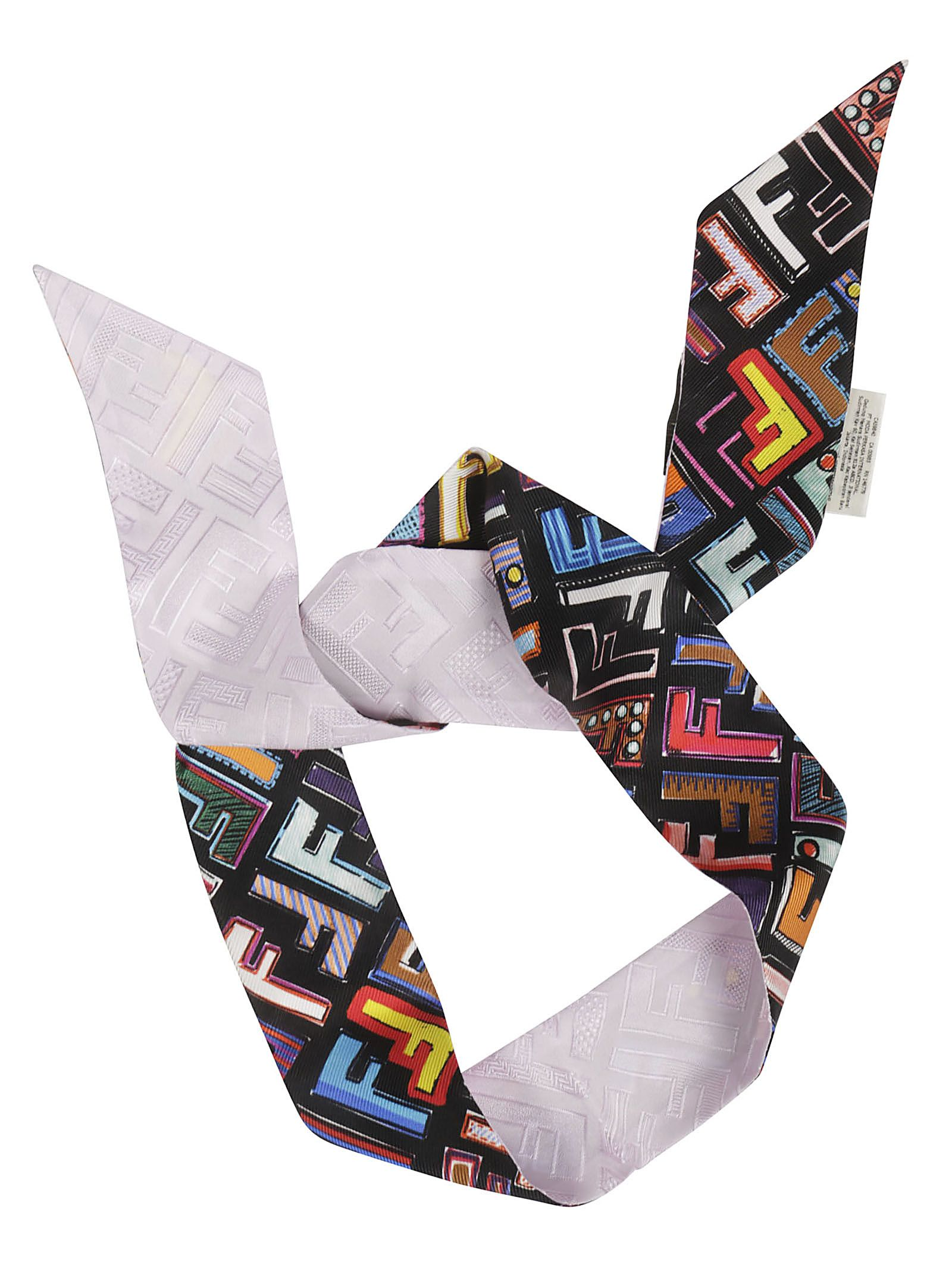 Fendi Fun Fair Wrappy Logo Print Foulard