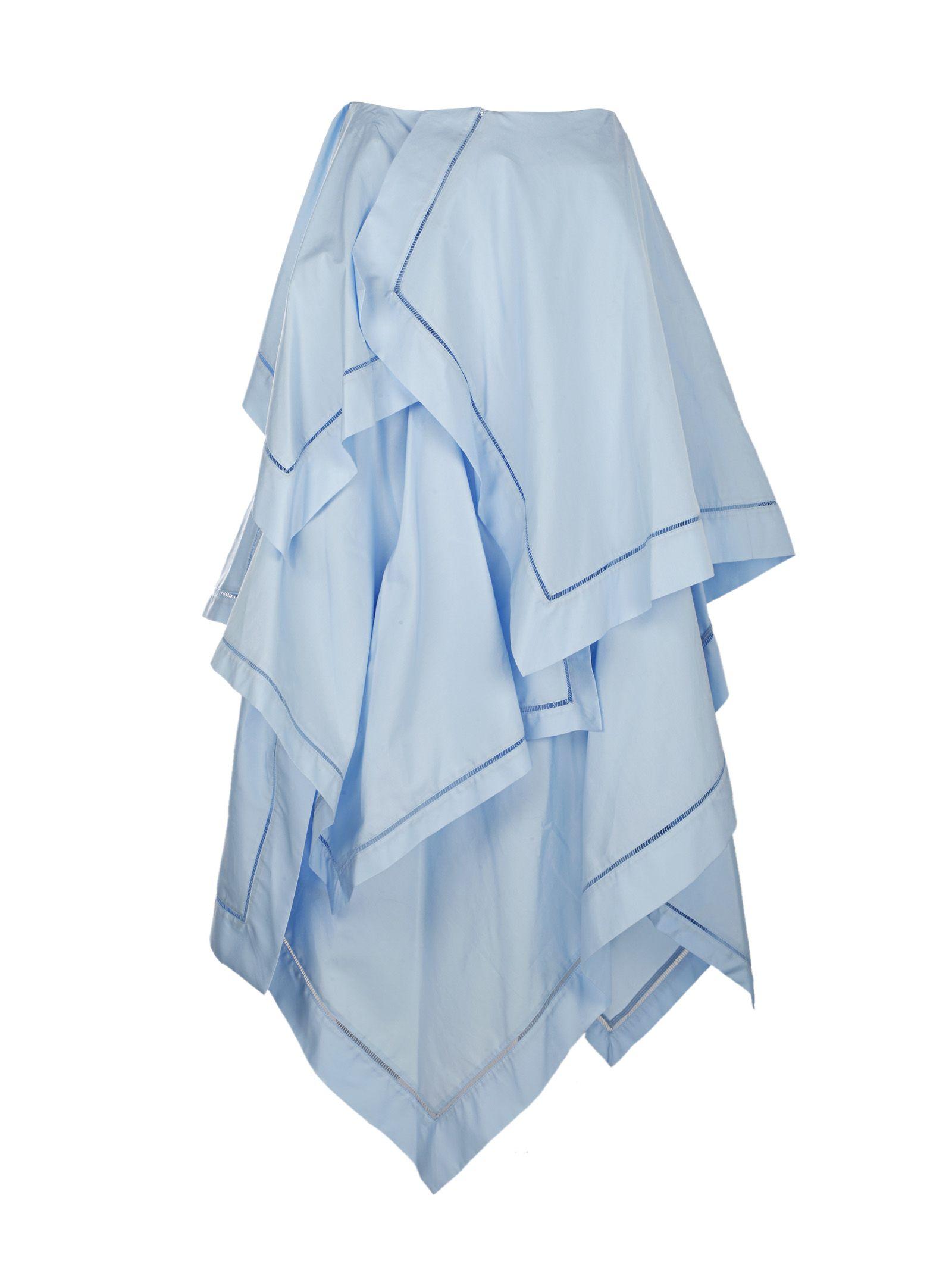 J.W. Anderson Maxi Handkerchief Skirt W Fagotting Trim
