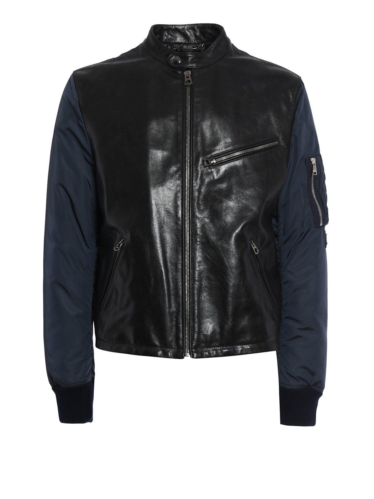 Dolce & Gabbana Leather+corduroy Jkt