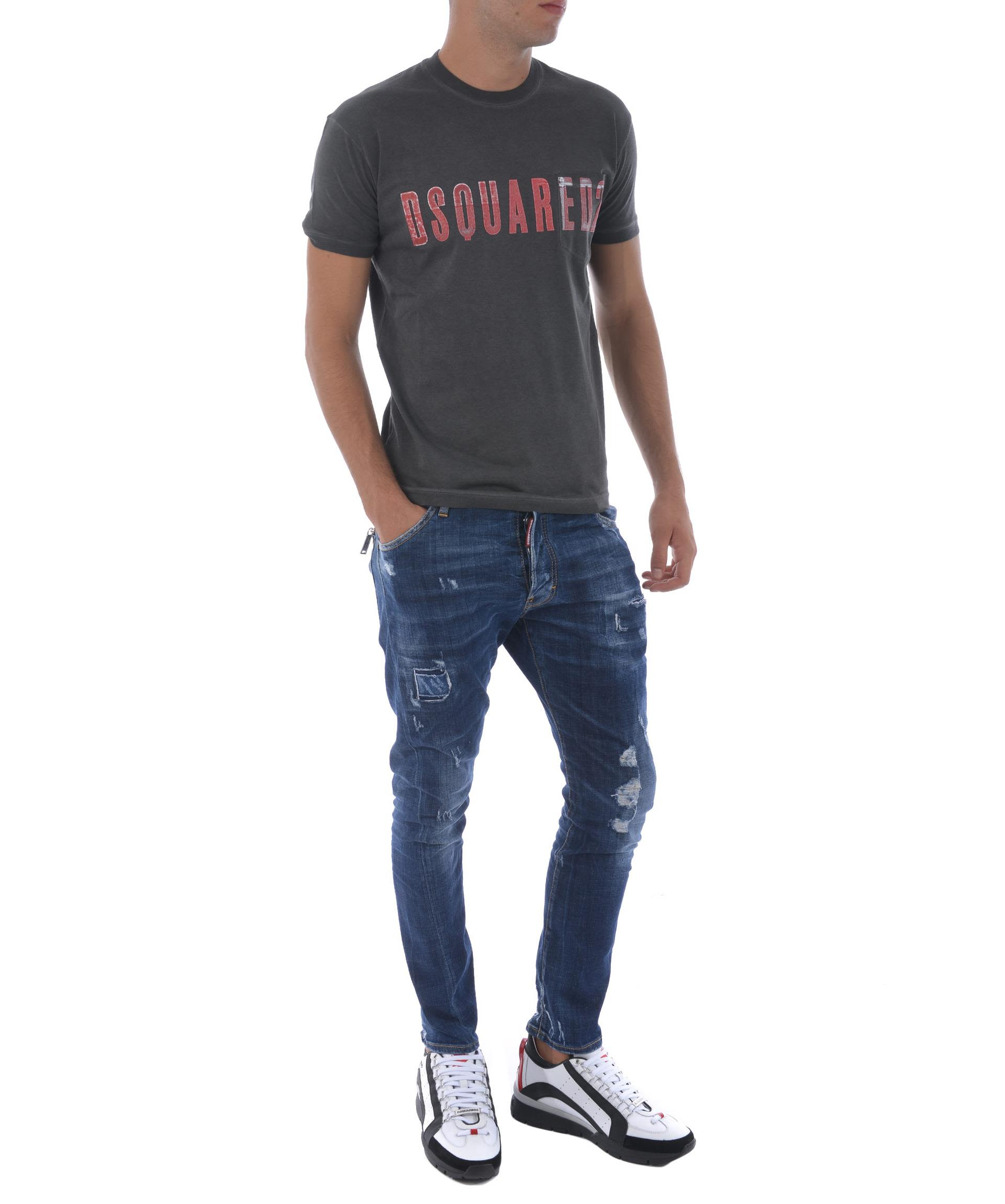 Dsquared2 Distressed Overdyed Jeans