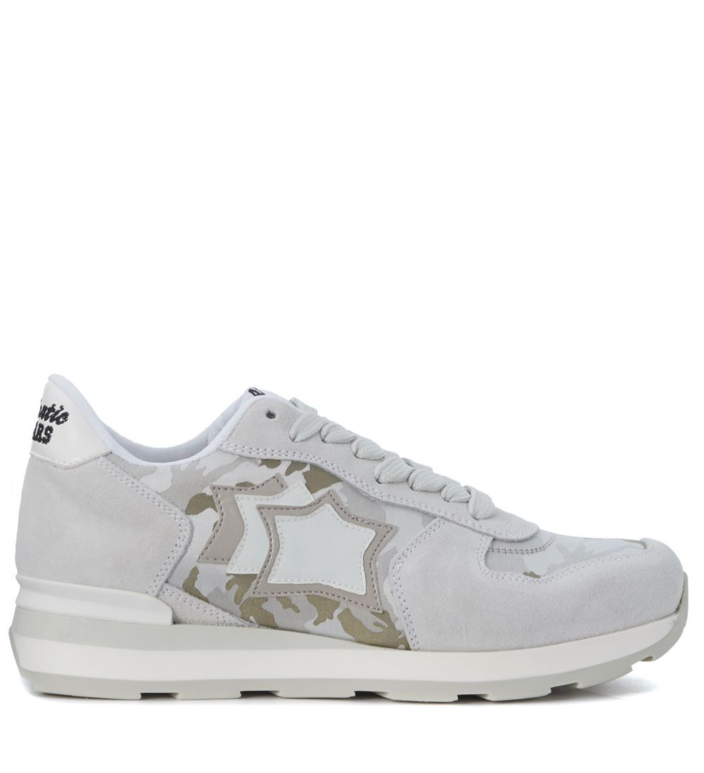 Sneaker Atlantic Stars Vega In Grey Suede And Camouflage Fabric