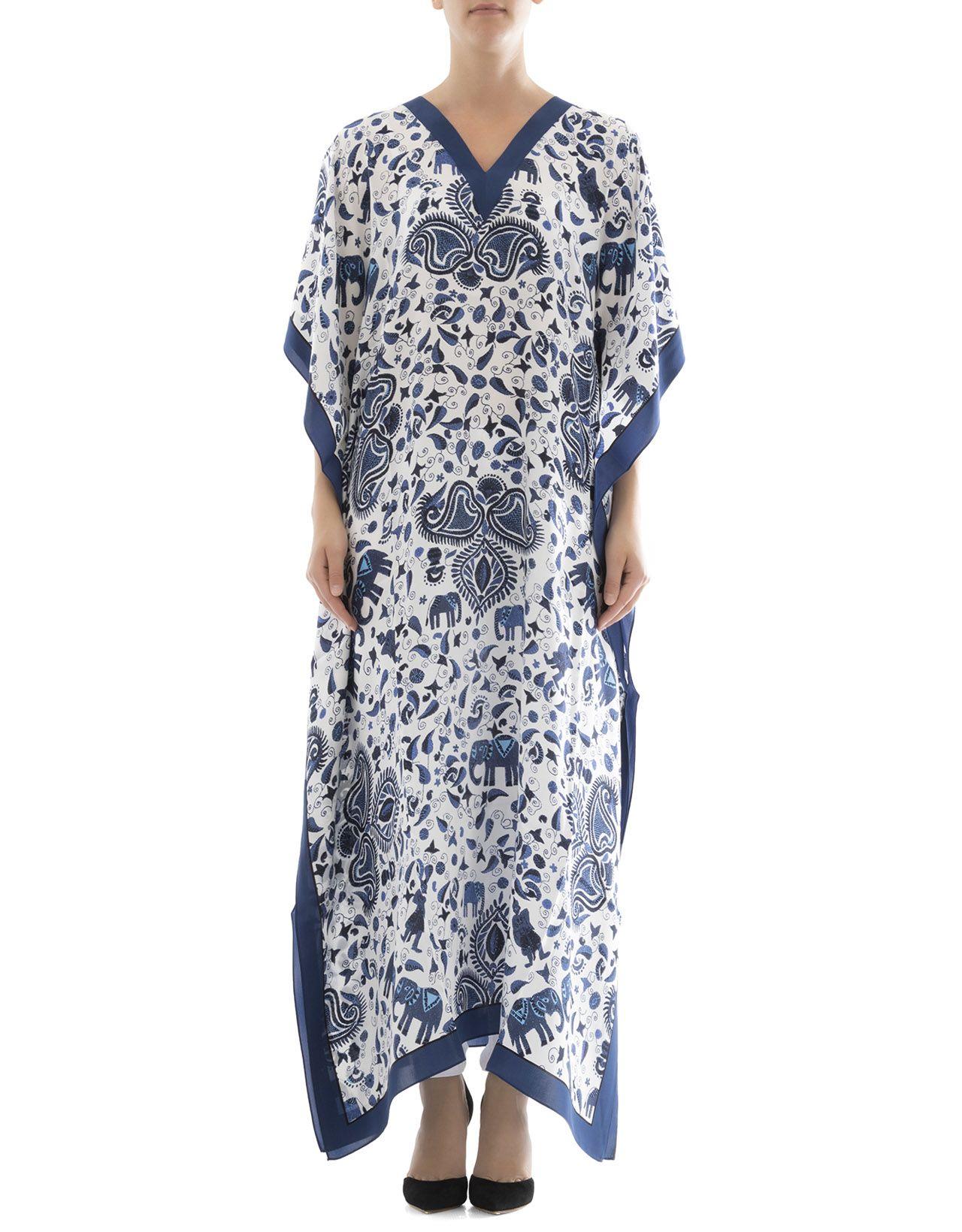 Blue Silk Caftan