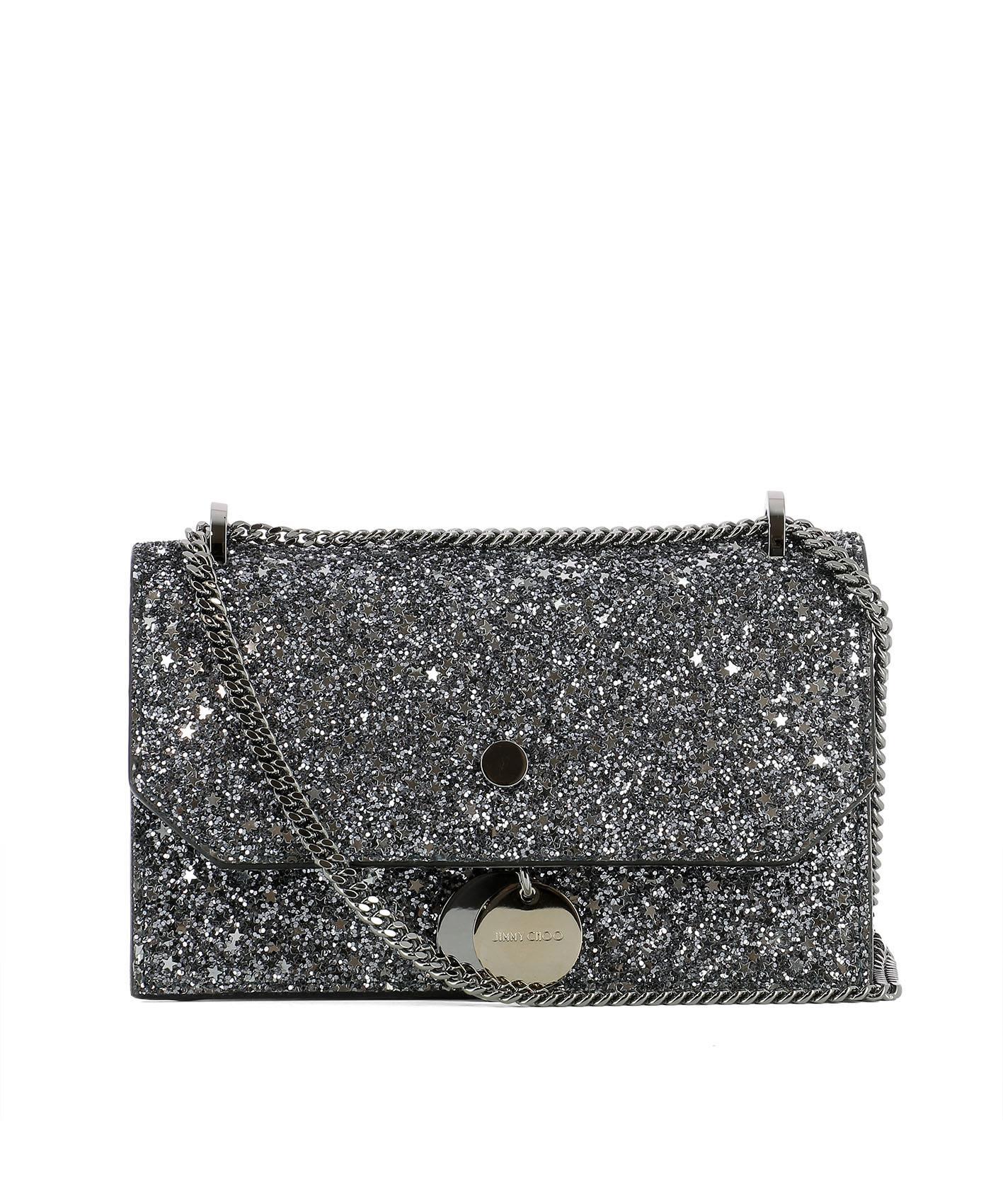Silver Leather Finley Shoulder Bag