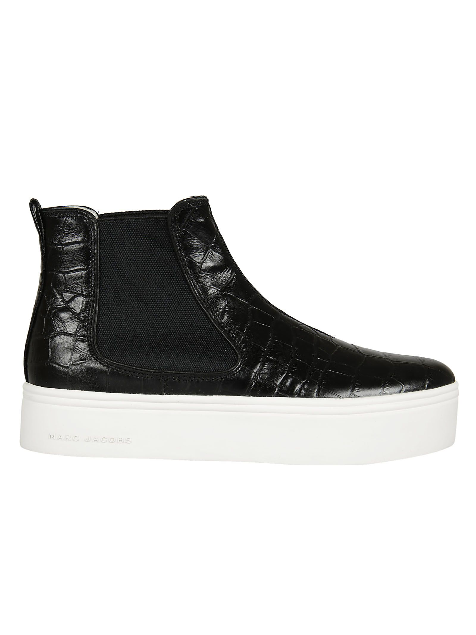 Marc Jacobs Crocodile Effect Ankle Boots