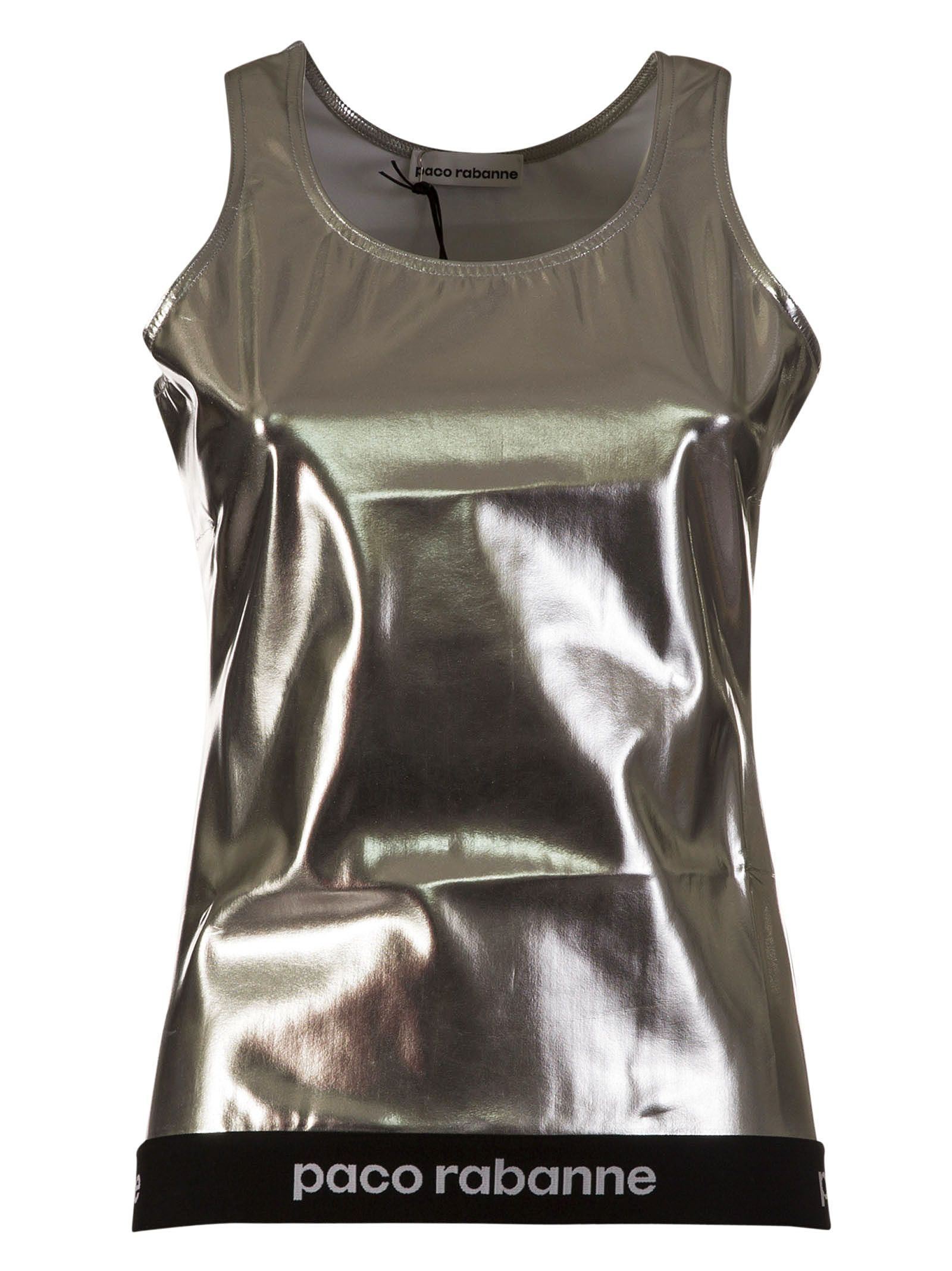 Paco Rabanne Embroidered Logo Top