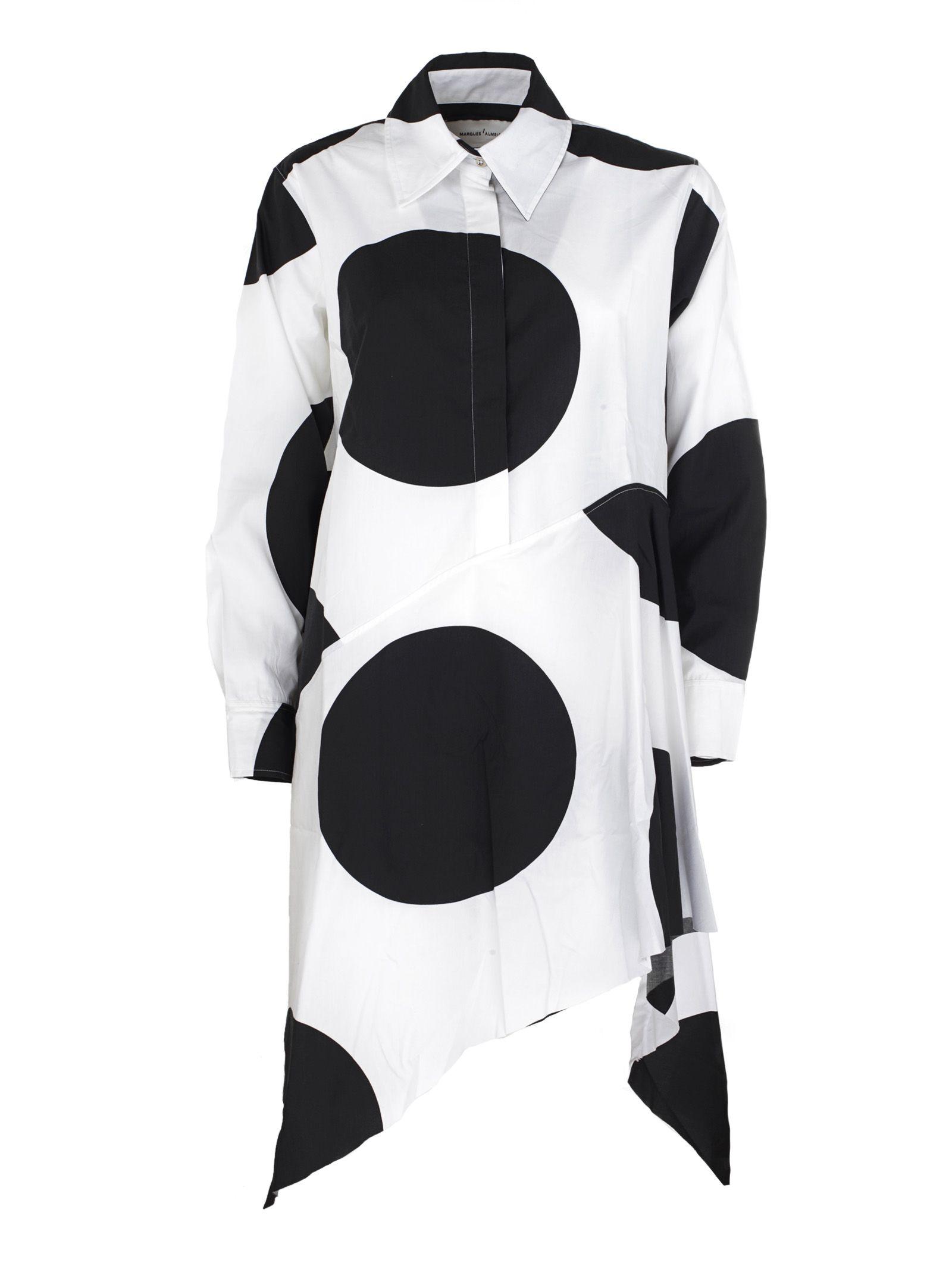 Marques Almeida Giant Polka Dot Shirt Dress