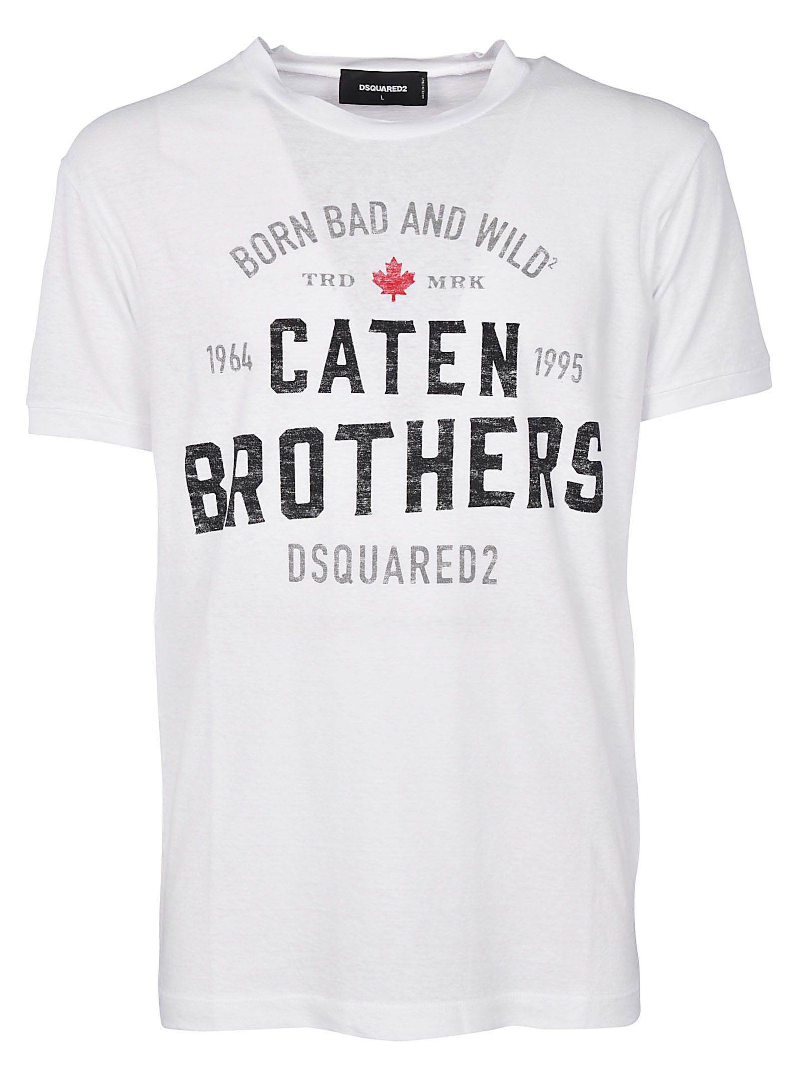 Dsquared2 Caten Brothers Print T-shirt