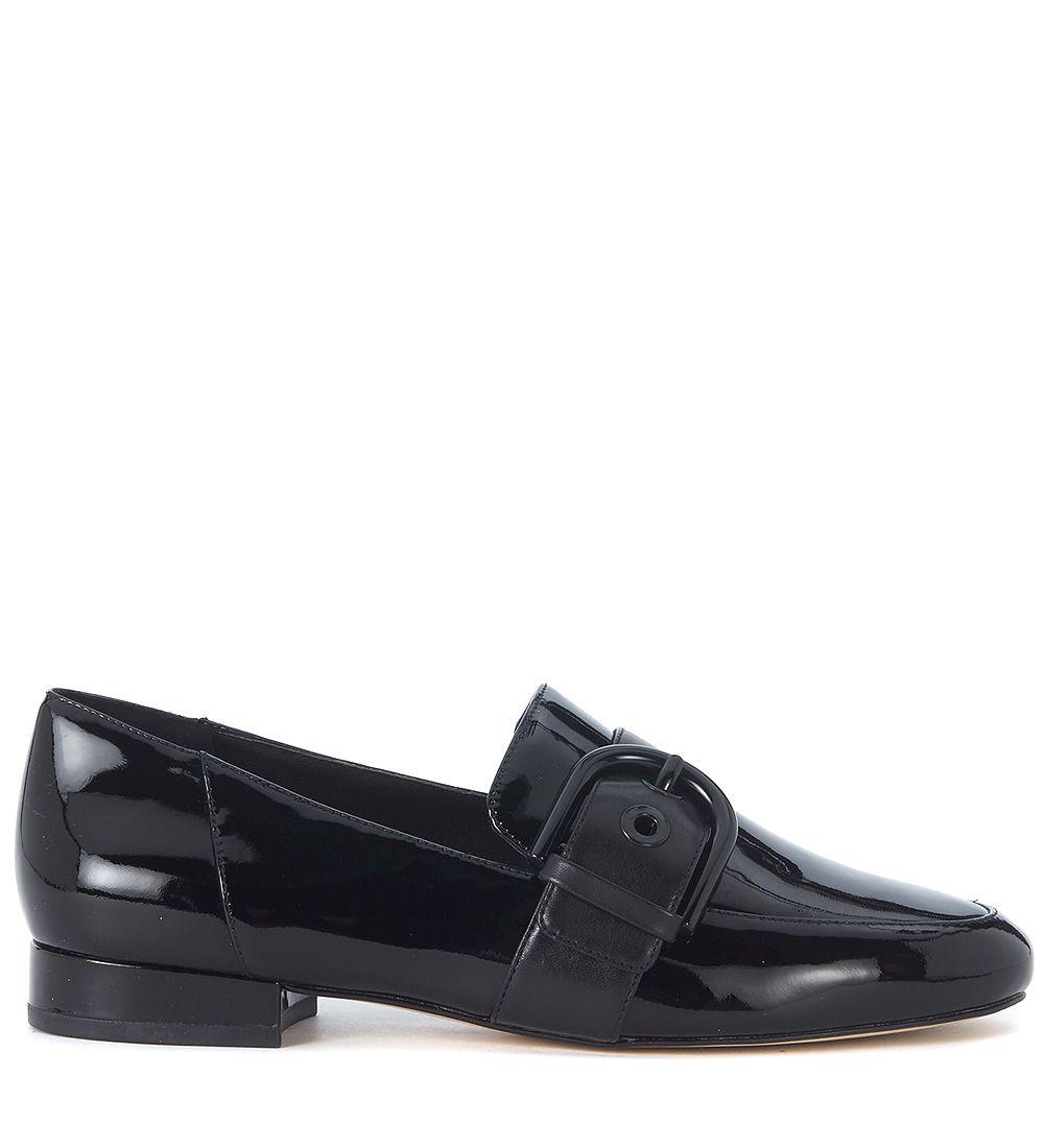 Michael Kors Cooper Black Patent Leather Slipper