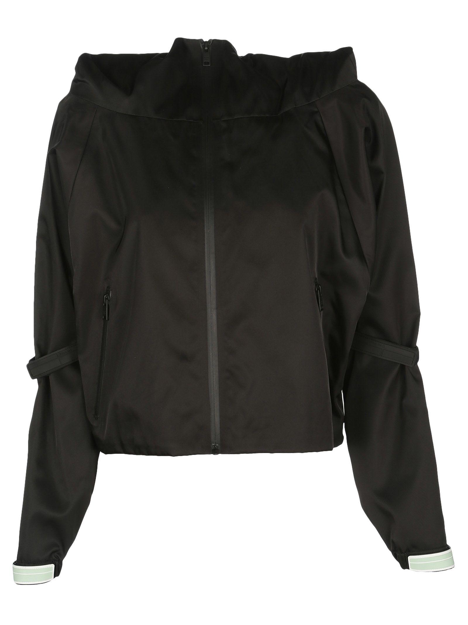 Prada Front Zip Hooded Jacket