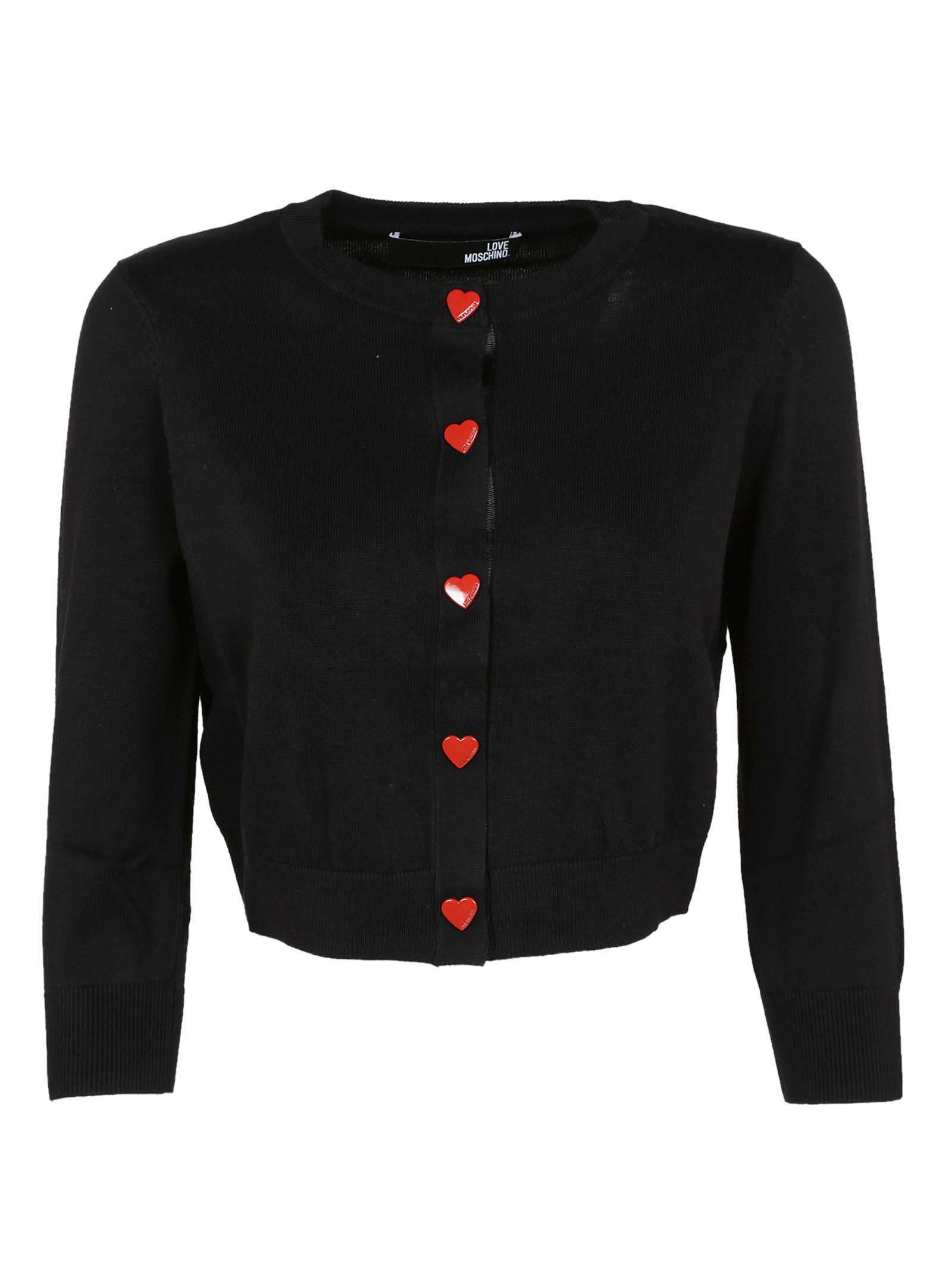 Love Moschino Cropped Cardigan