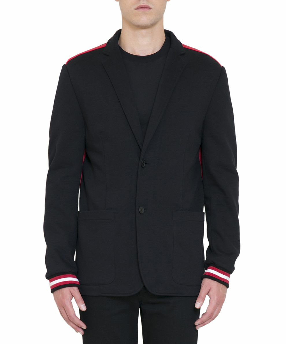 Givenchy Cotton Jersey Striped Blazer