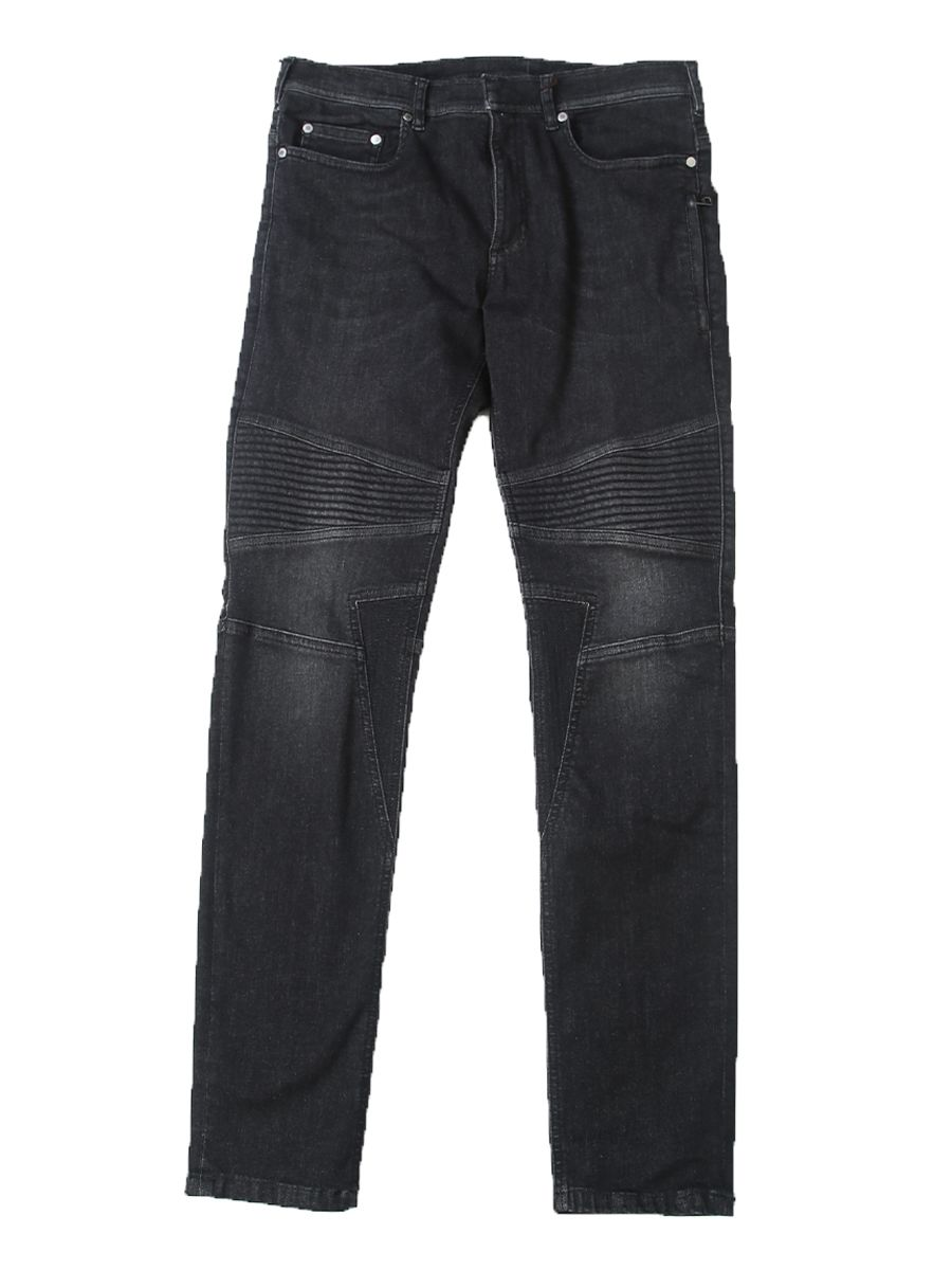 Stretch Denim Biker Jeans