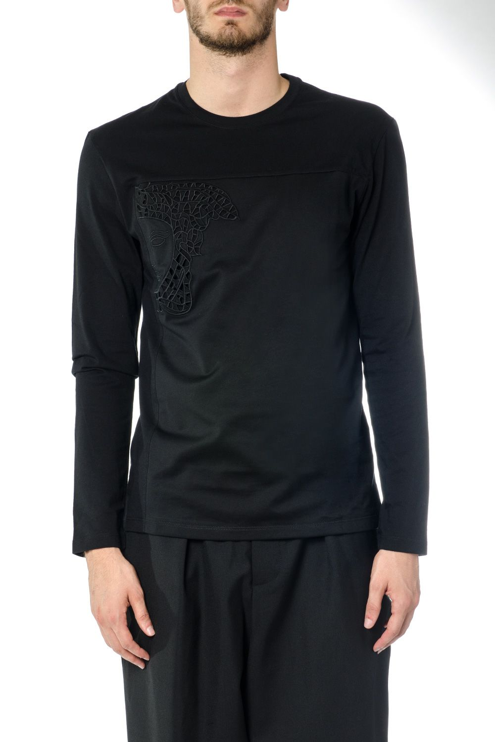 Versace Collection Medusa Embrodery Cotton T-shirt