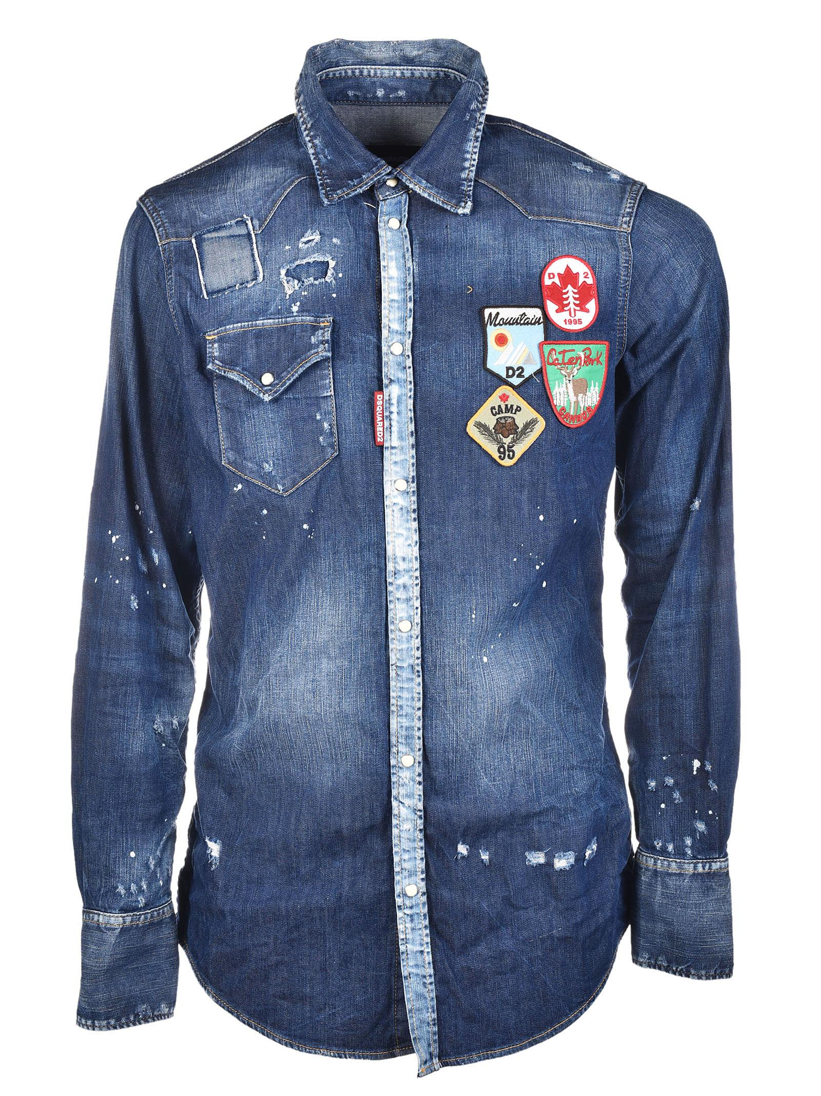 Dsquared2 Patch Denim Shirt