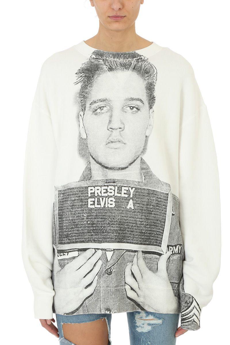 R13 Elvise Mugshot Print Sweater