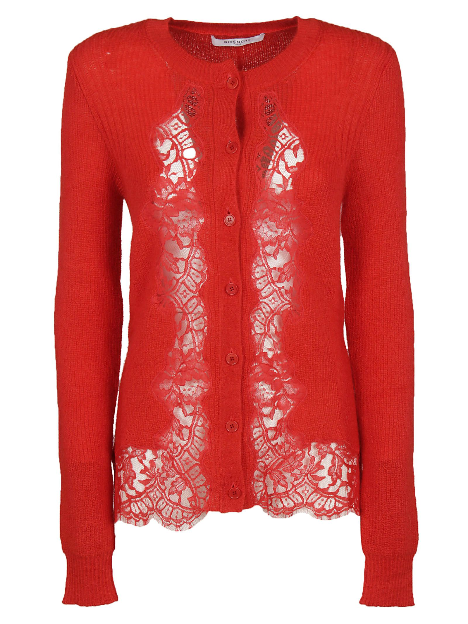 Givenchy Lace Inset Cardigan