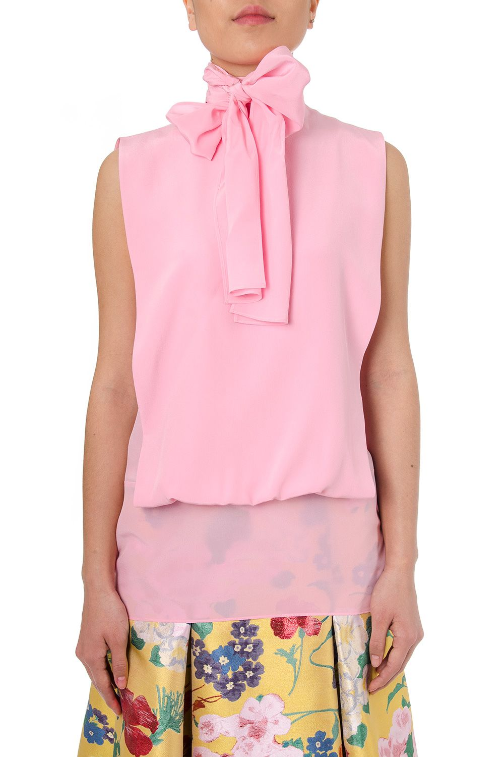 Valentino Crepe Blouse With Bow Detail