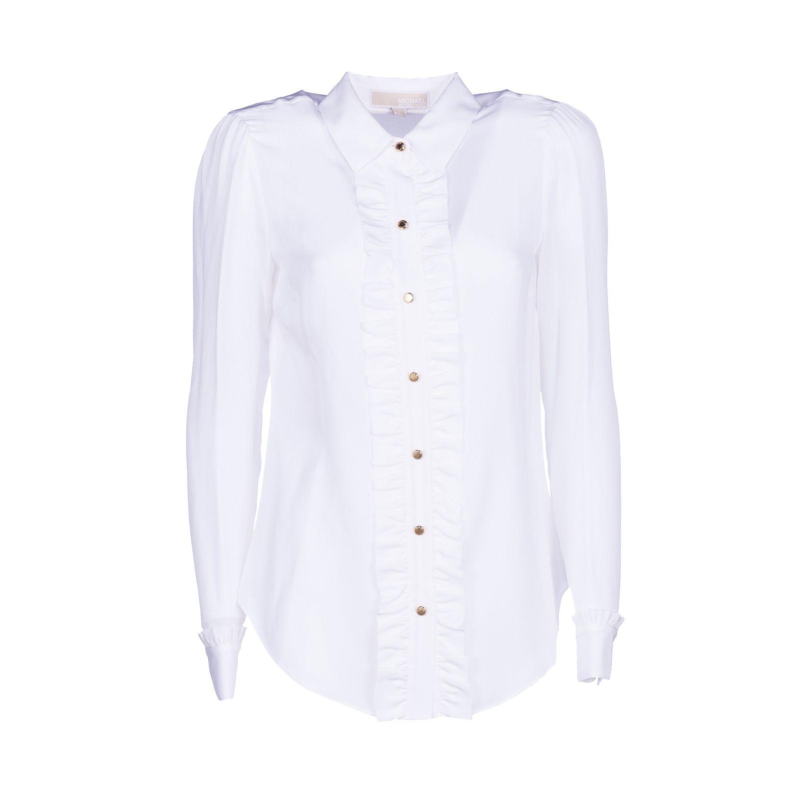 Michael Michael Kors Frilled Placket Semi-sheer Shirt