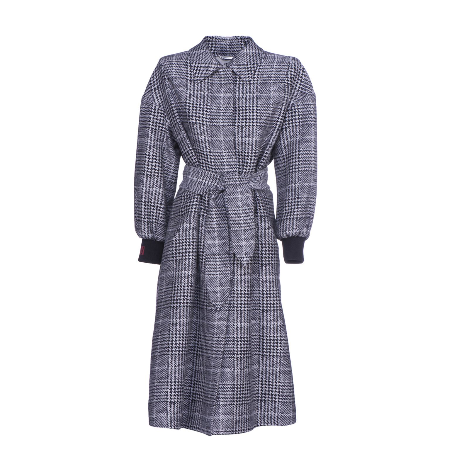 FENDI PLAID TAILORED COAT