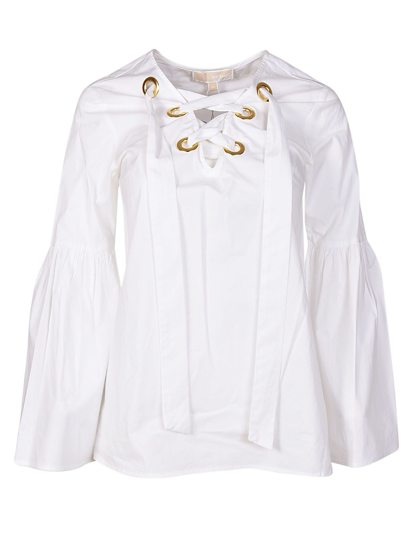 Michael Kors Long-sleeved Tie Neck Blouse