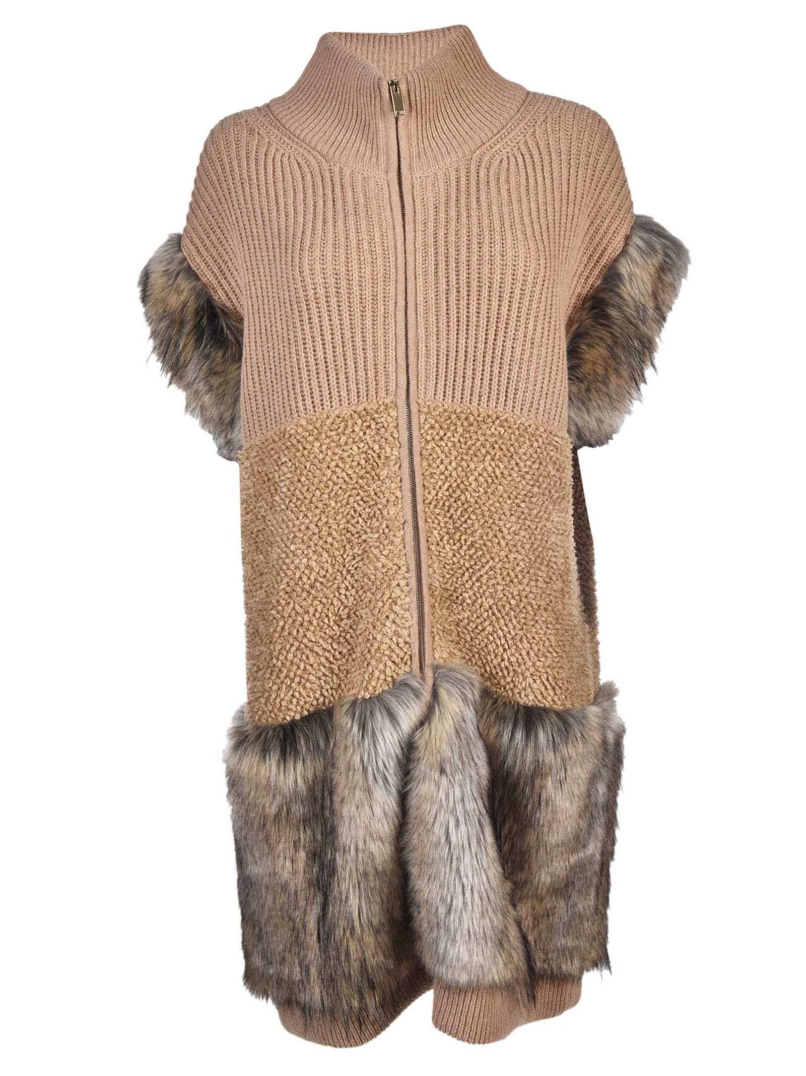 Stella McCartney Fur Free Fur Trimmed Coat