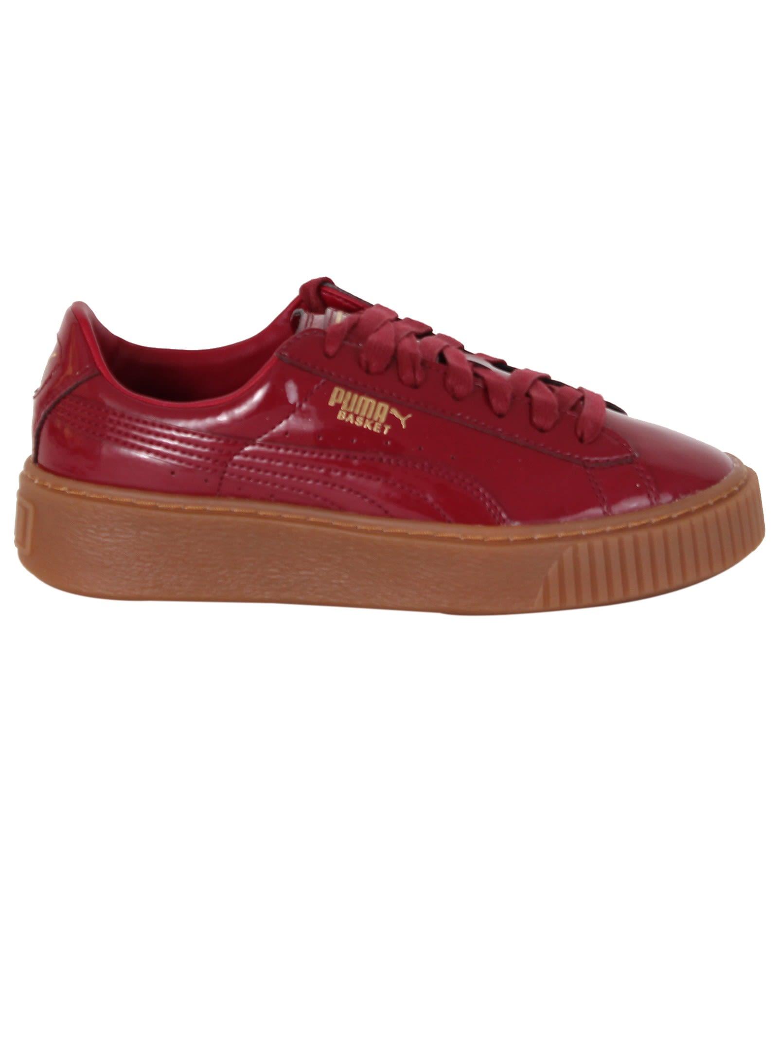 Tibetan Red Basket Platform Sneakers