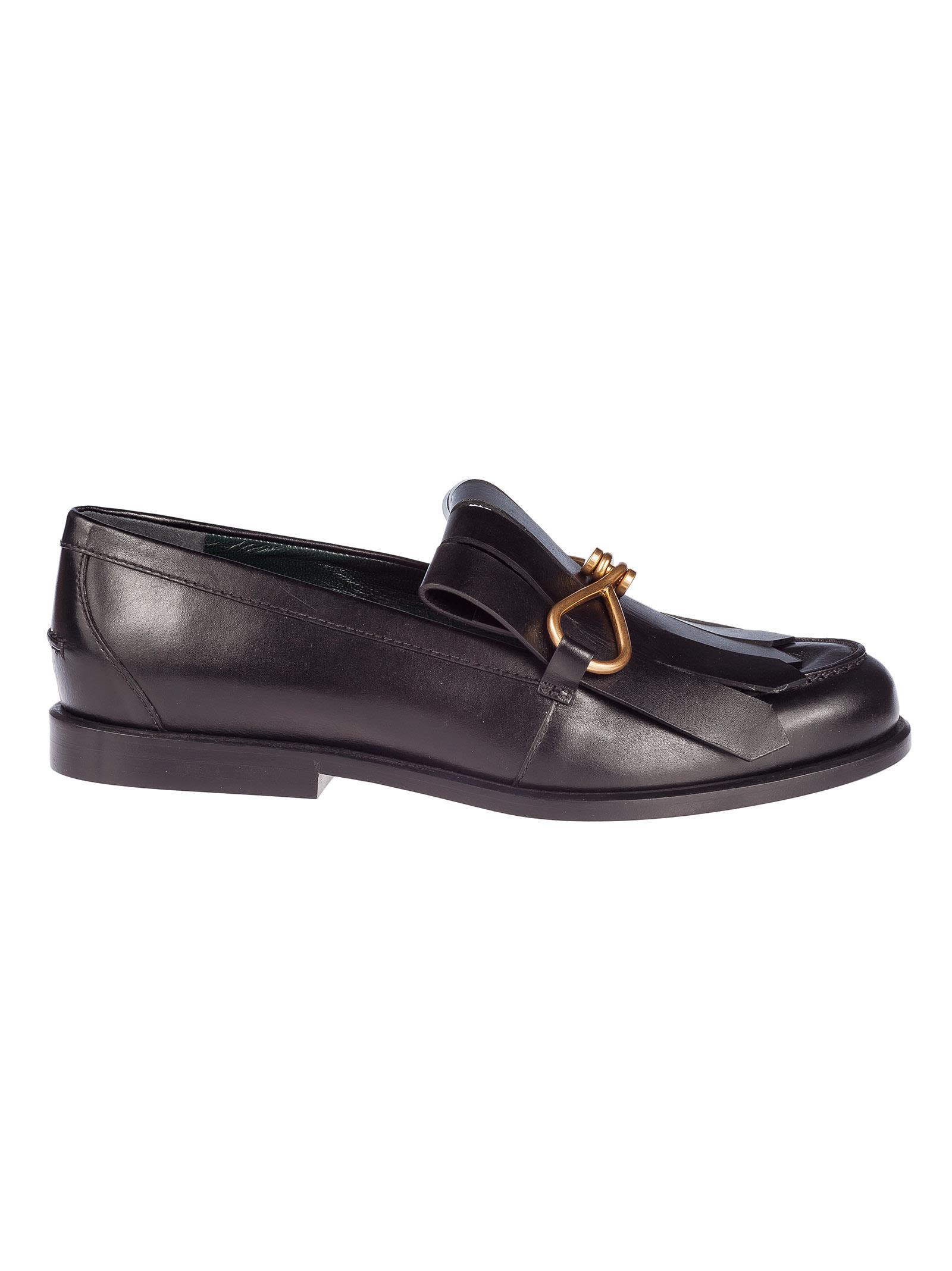 Mulberry Fringed Loafers
