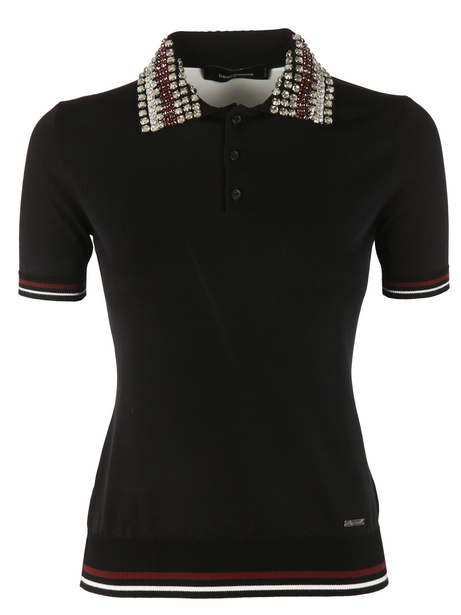 Dsquared2 Crystal Collar Polo Shirt