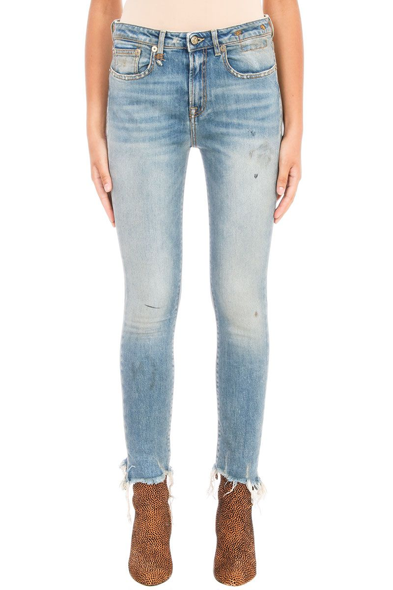 R13 Jenny Frayed-hem Skinny Jeans