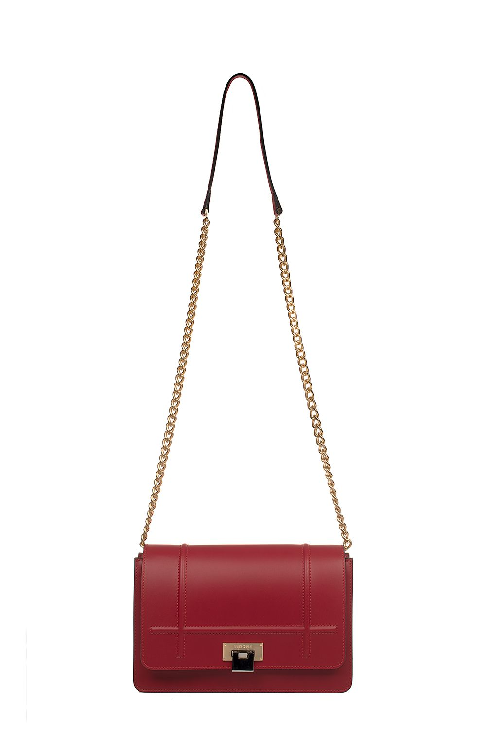 Red Lizzy Medium Leather Shoulder Bag