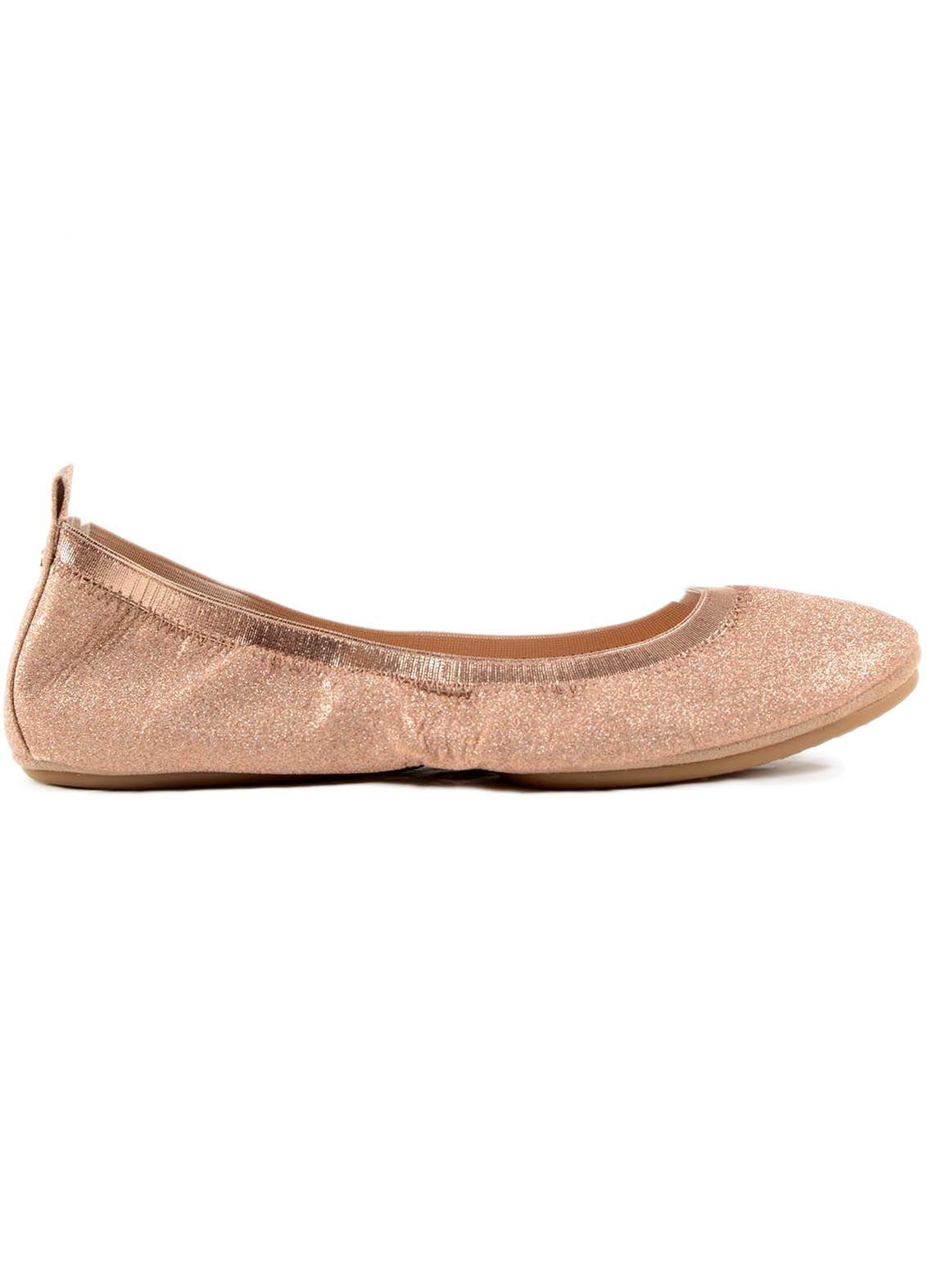 Yosi Samra Samara Sandpaper Glitter Ballerinas