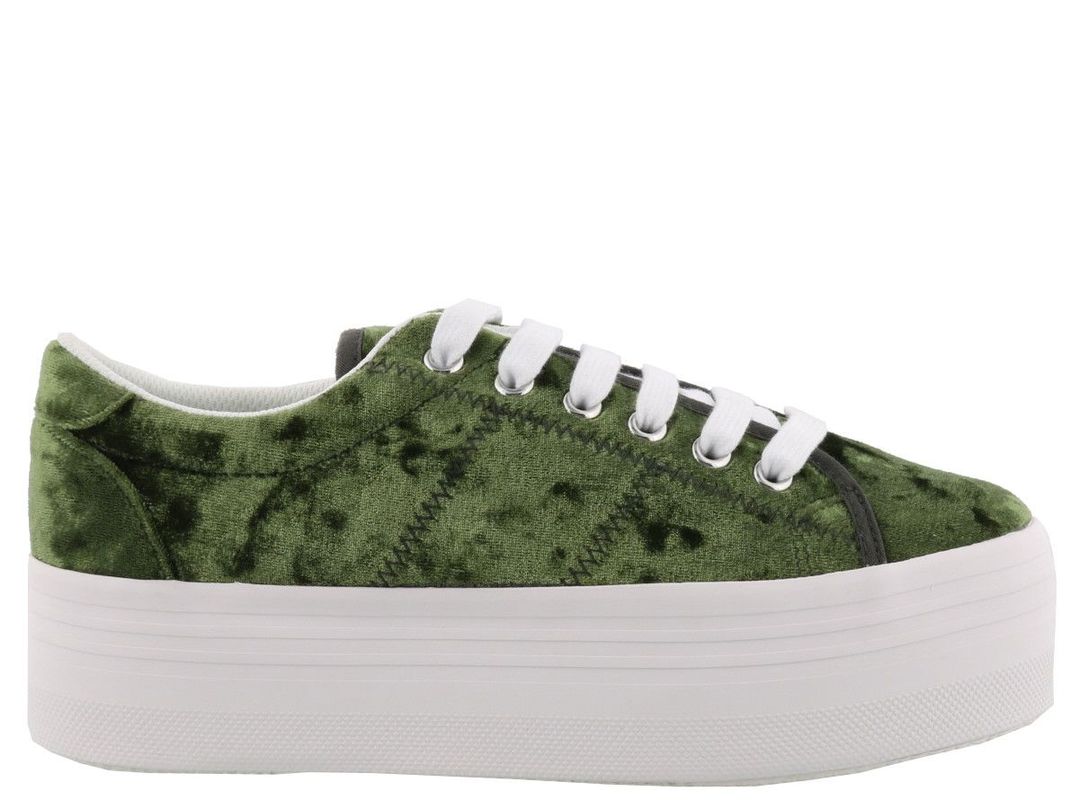 Jeffrey Campbell Zomg Velvet Sneakers