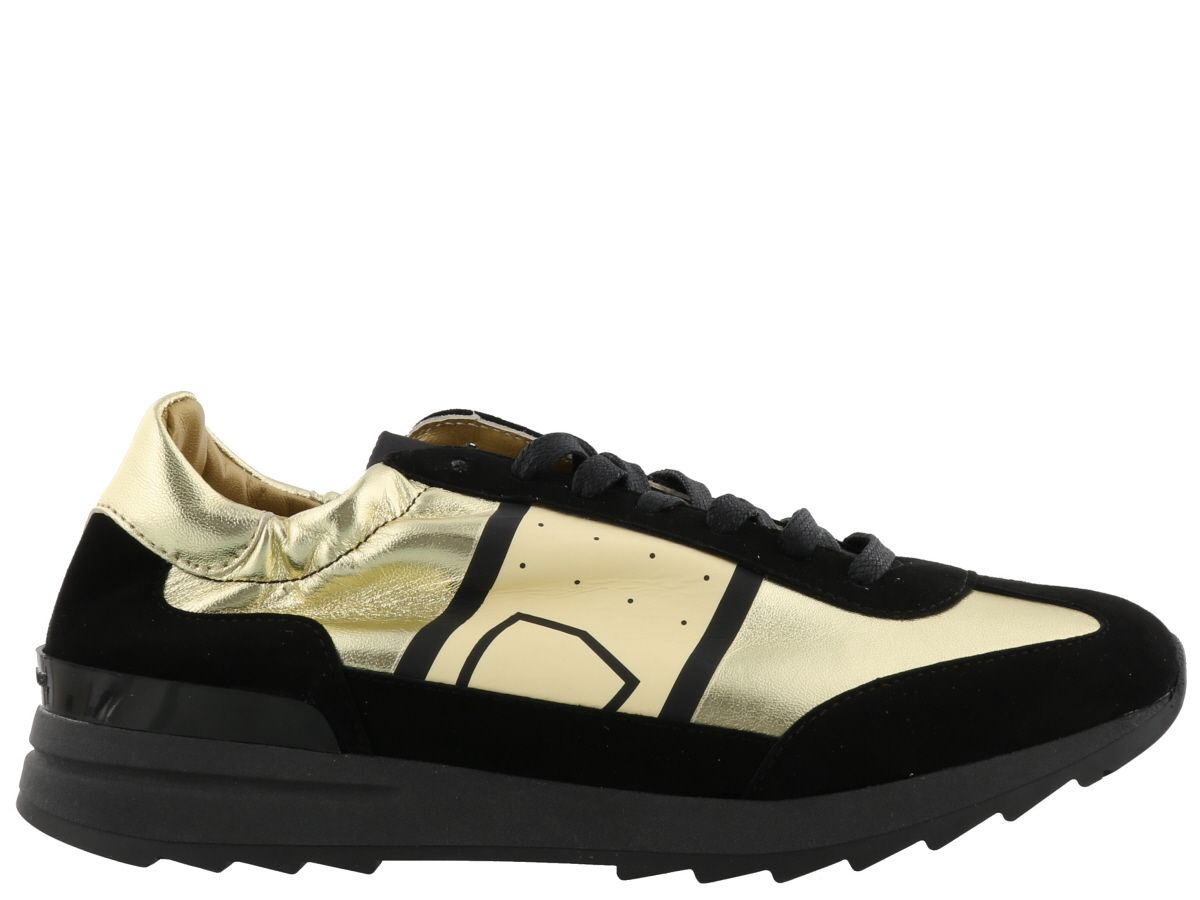philippe model philippe model toujours sneaker black gold women 39 s sneakers italist. Black Bedroom Furniture Sets. Home Design Ideas