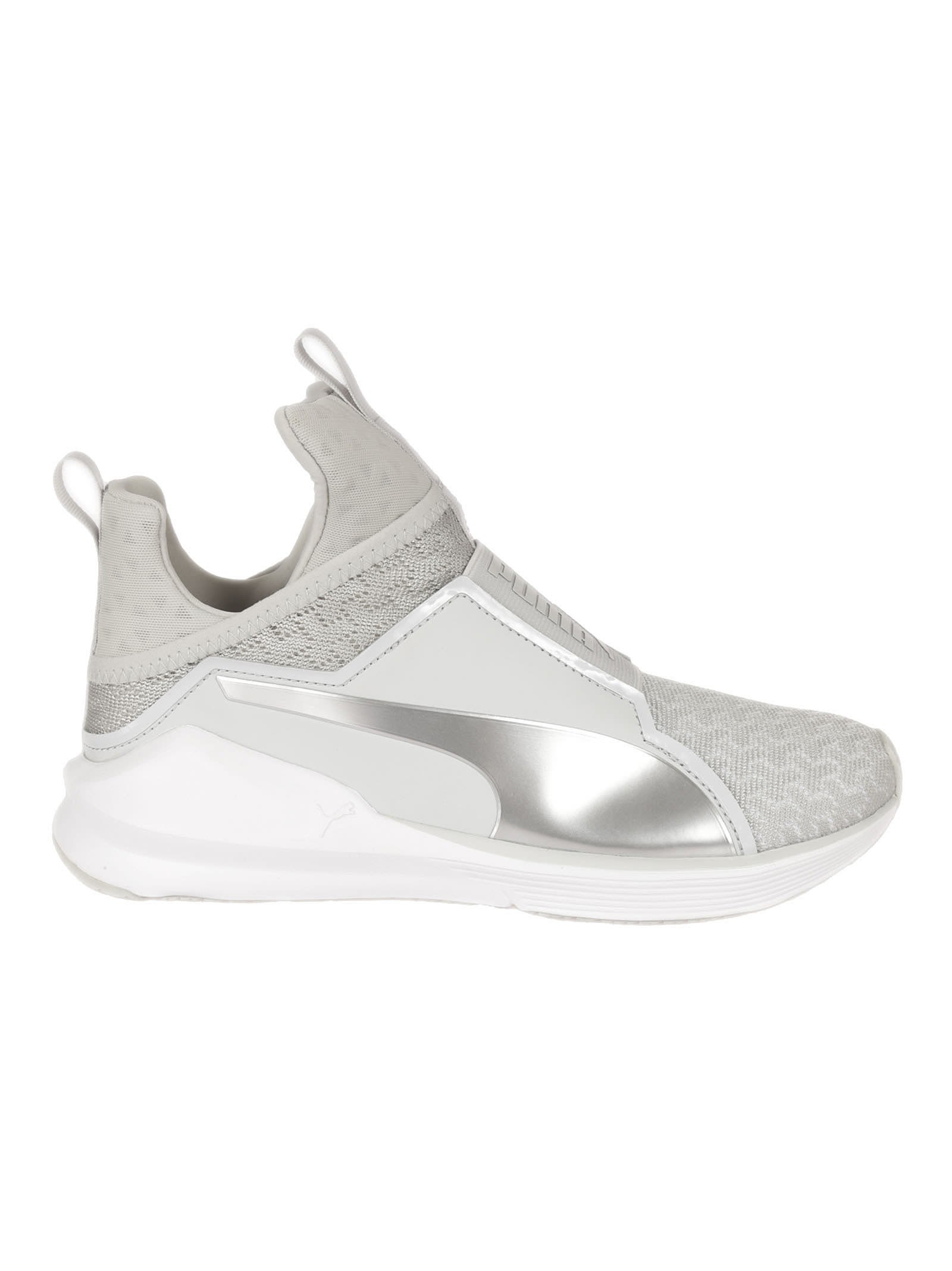 Puma Light Grey Fierce Mesh Sneakers