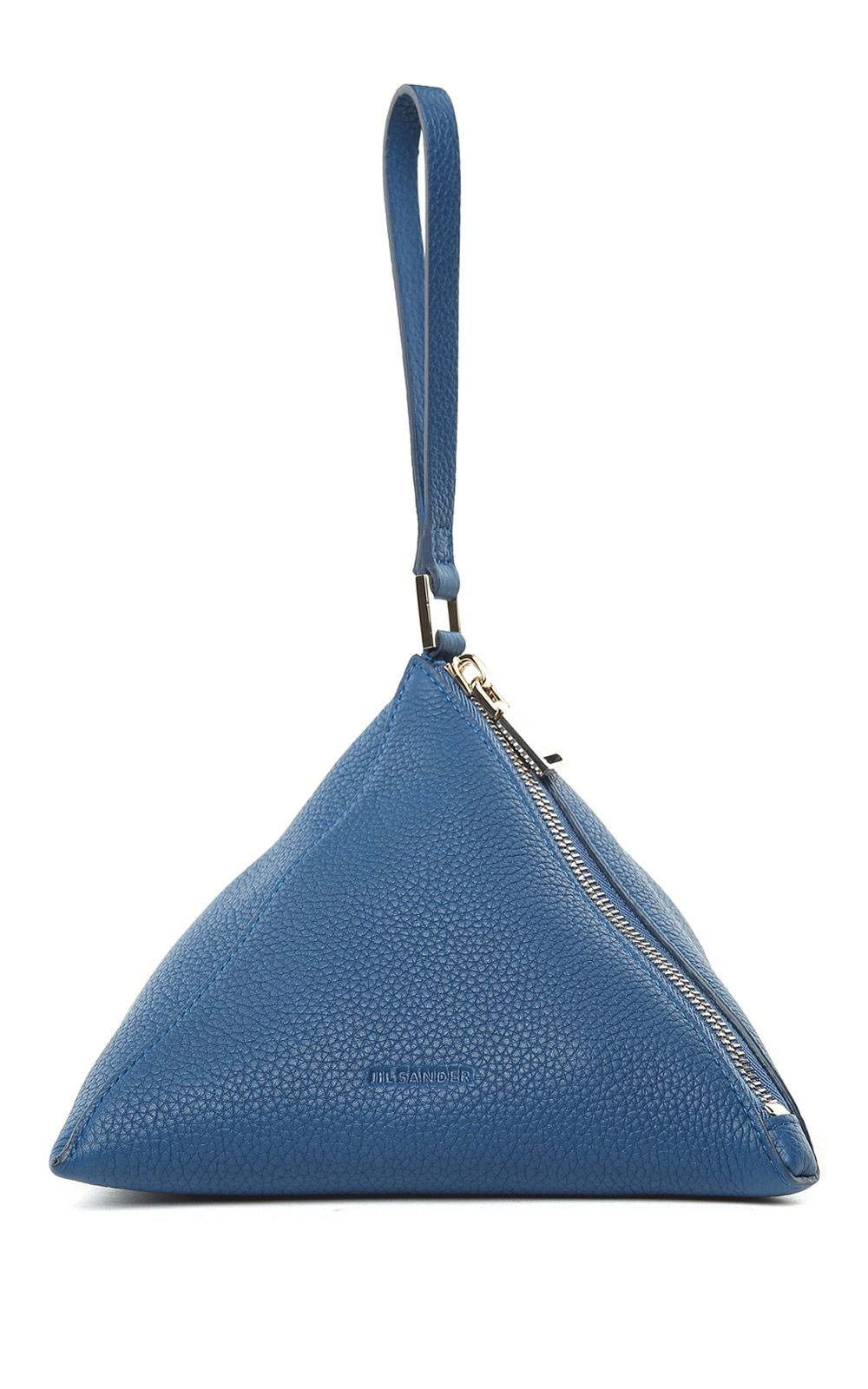 Jil Sander 3angle Grained-leather Pouch