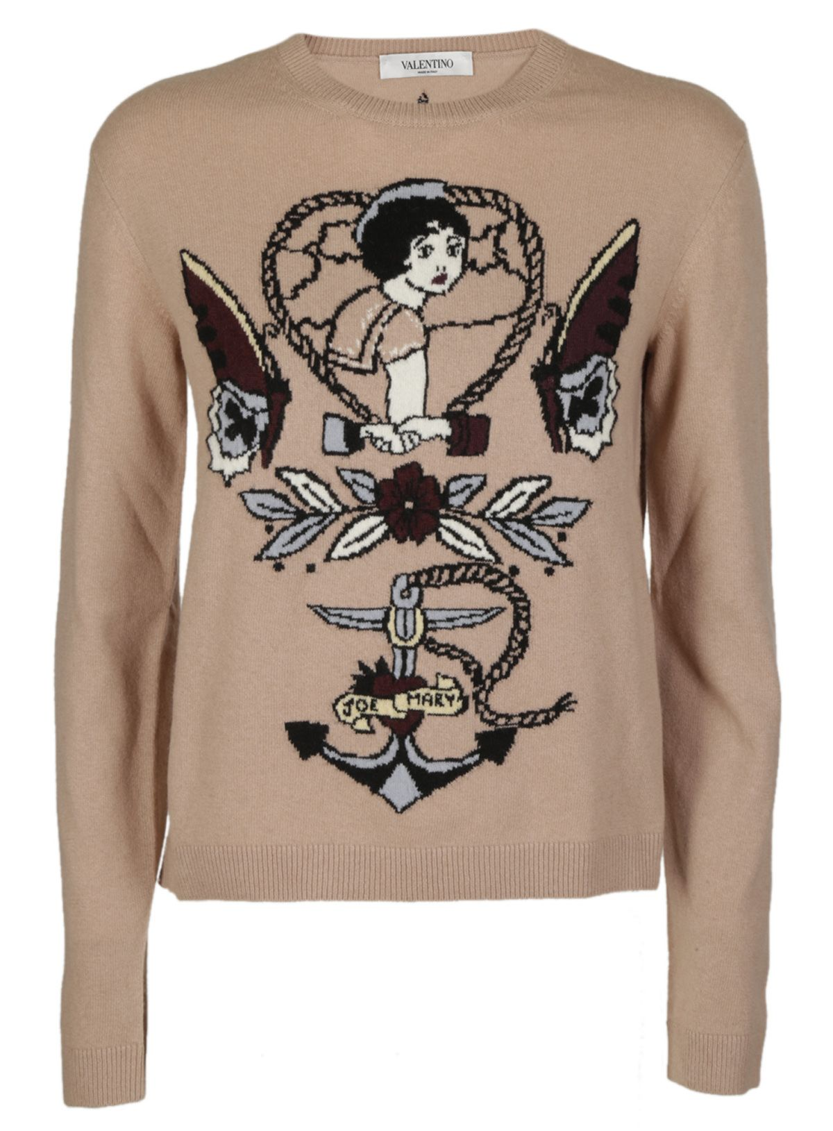 Valentino Tattoo Intarsia Sweater