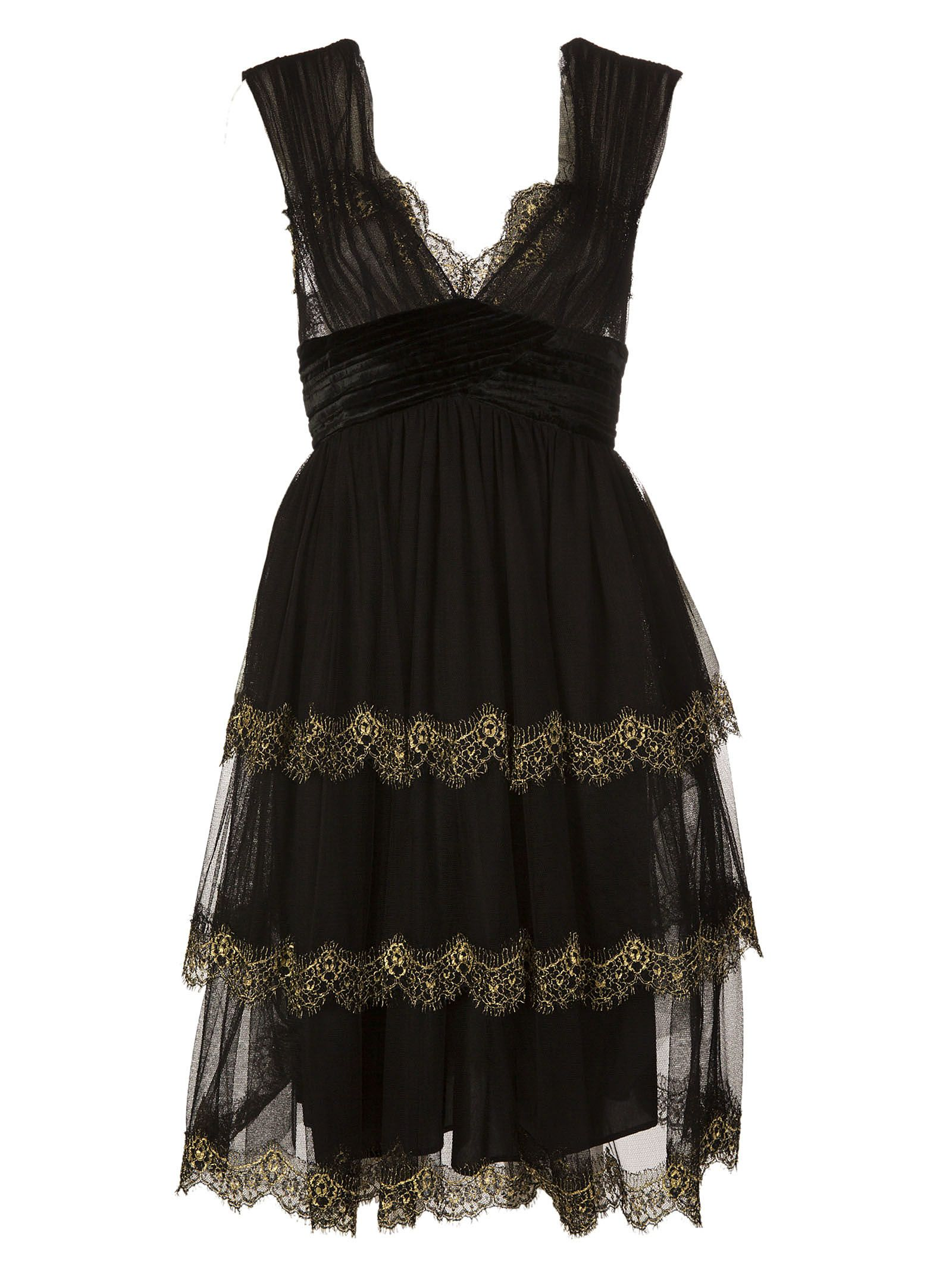 Alberta Ferretti Laced Dress