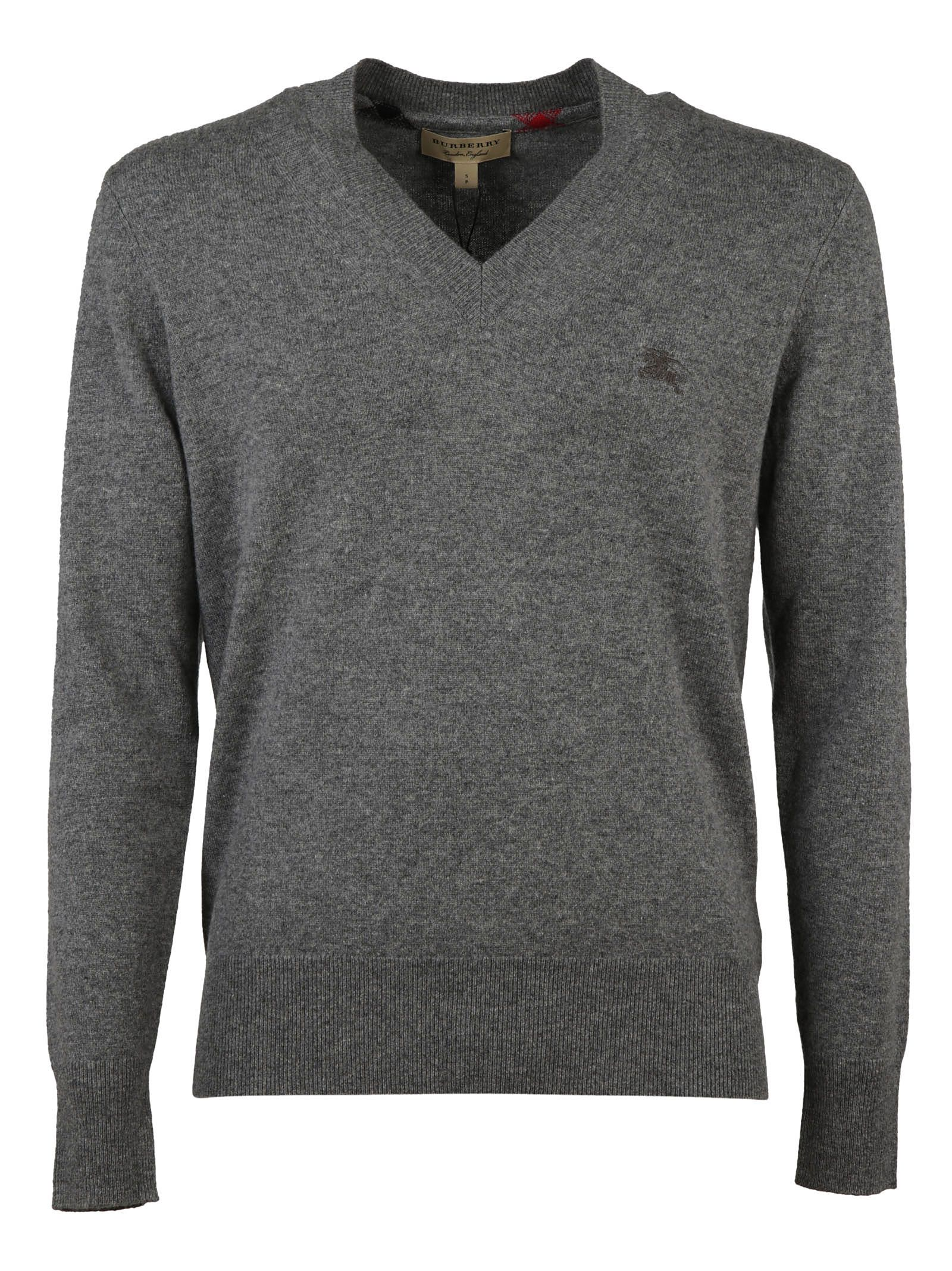 Burberry Ribbed V-neck Sweater