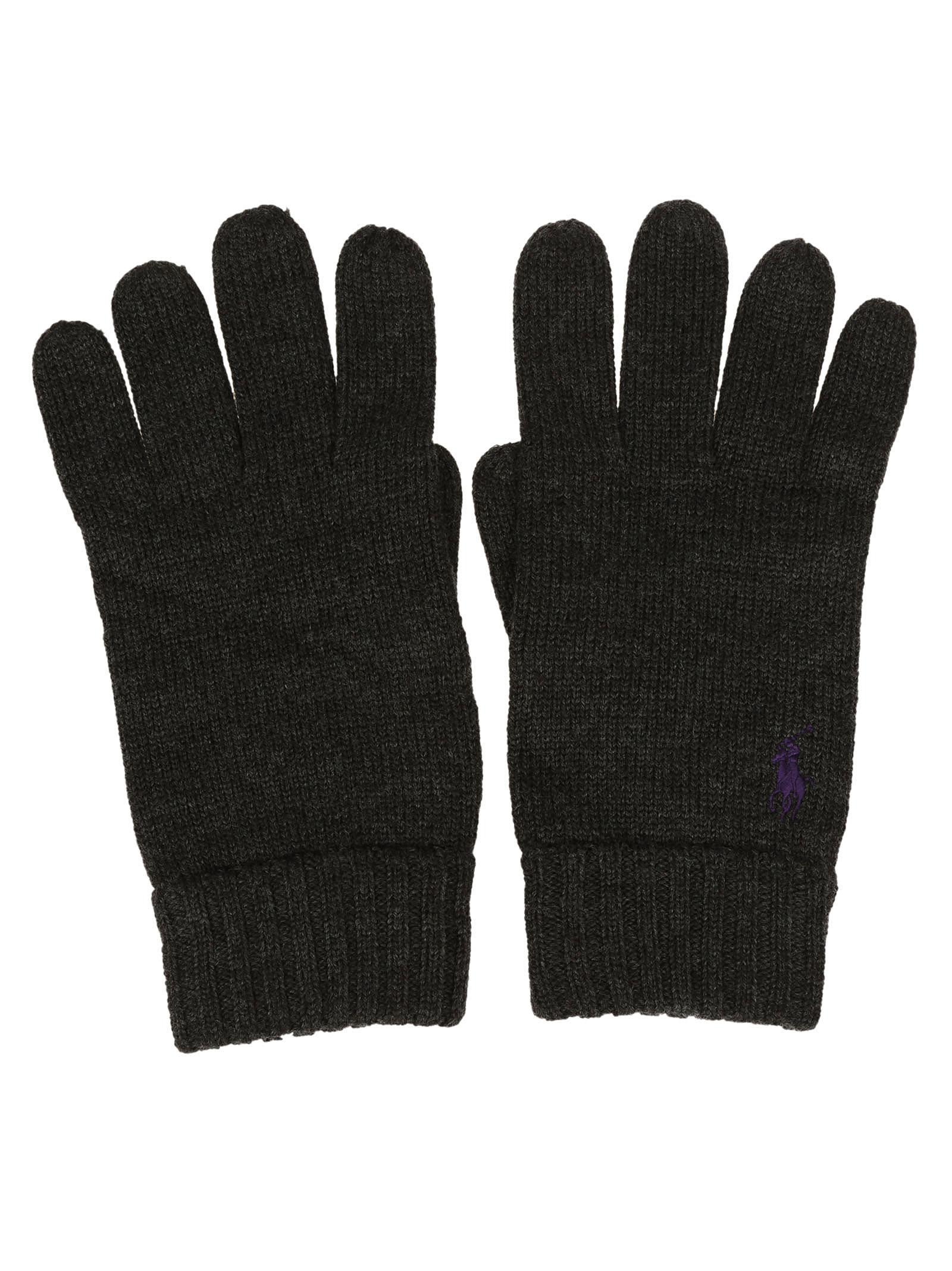 Ralph Lauren Embroidered Logo Gloves