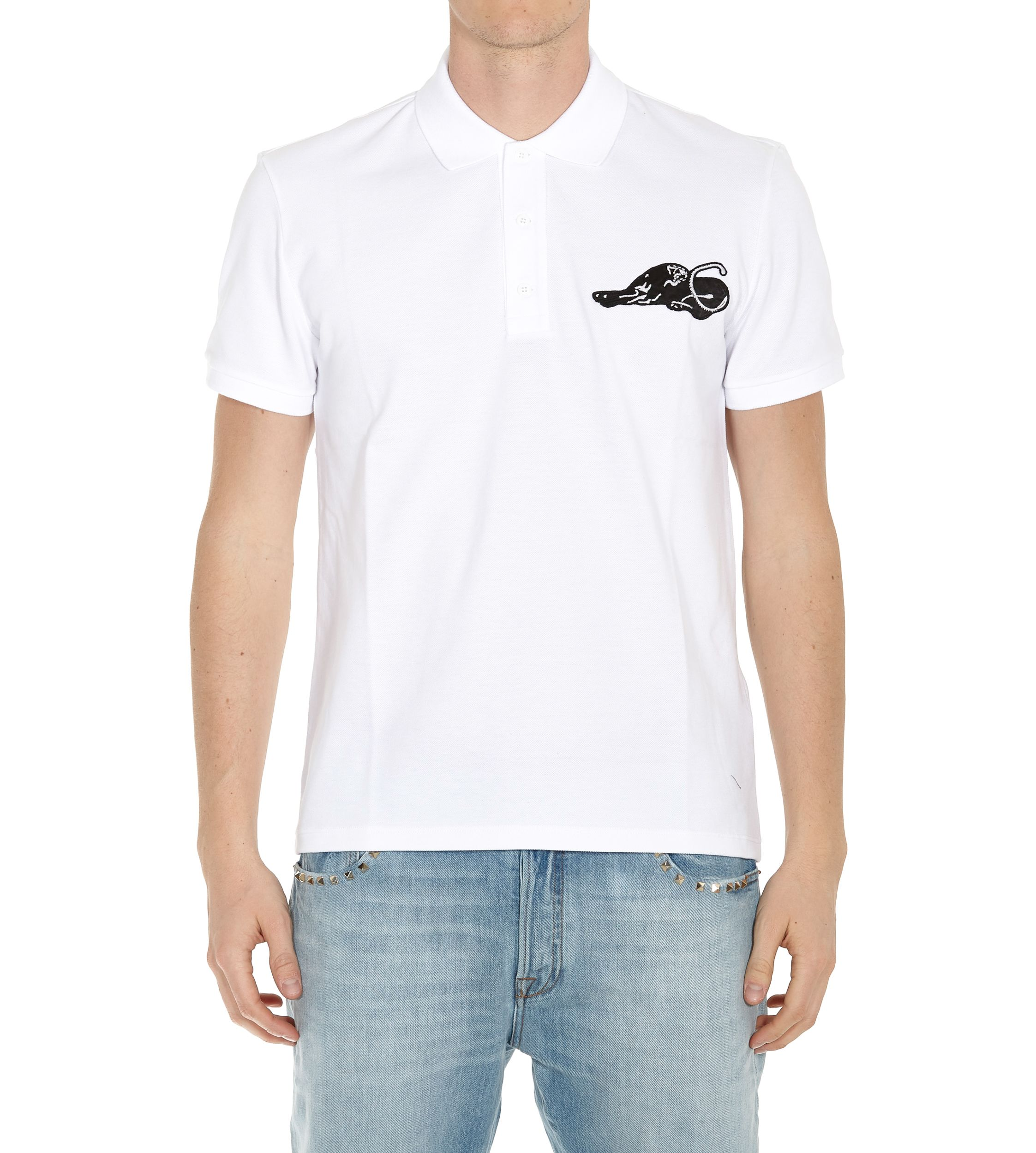 Valentino Panther Detail Polo Tshirt